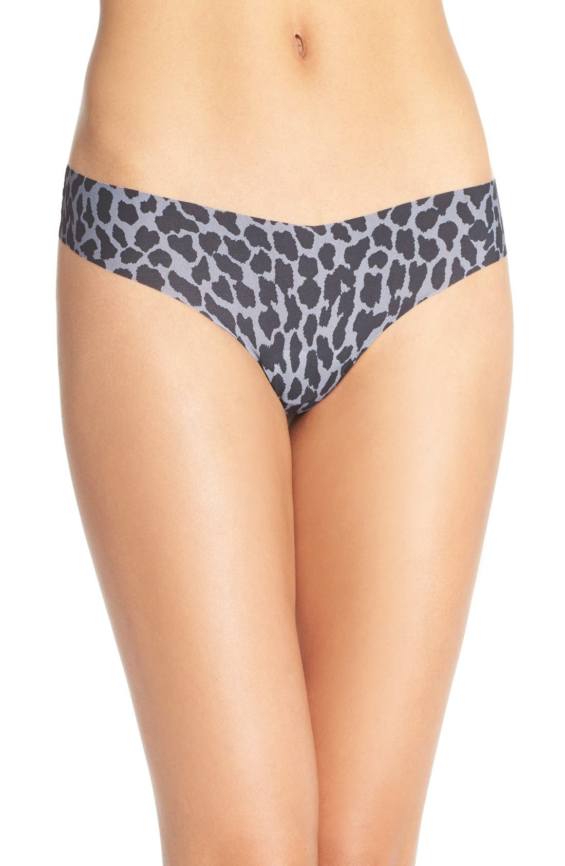 Print Microfiber Thong,                             Main thumbnail 35, color,