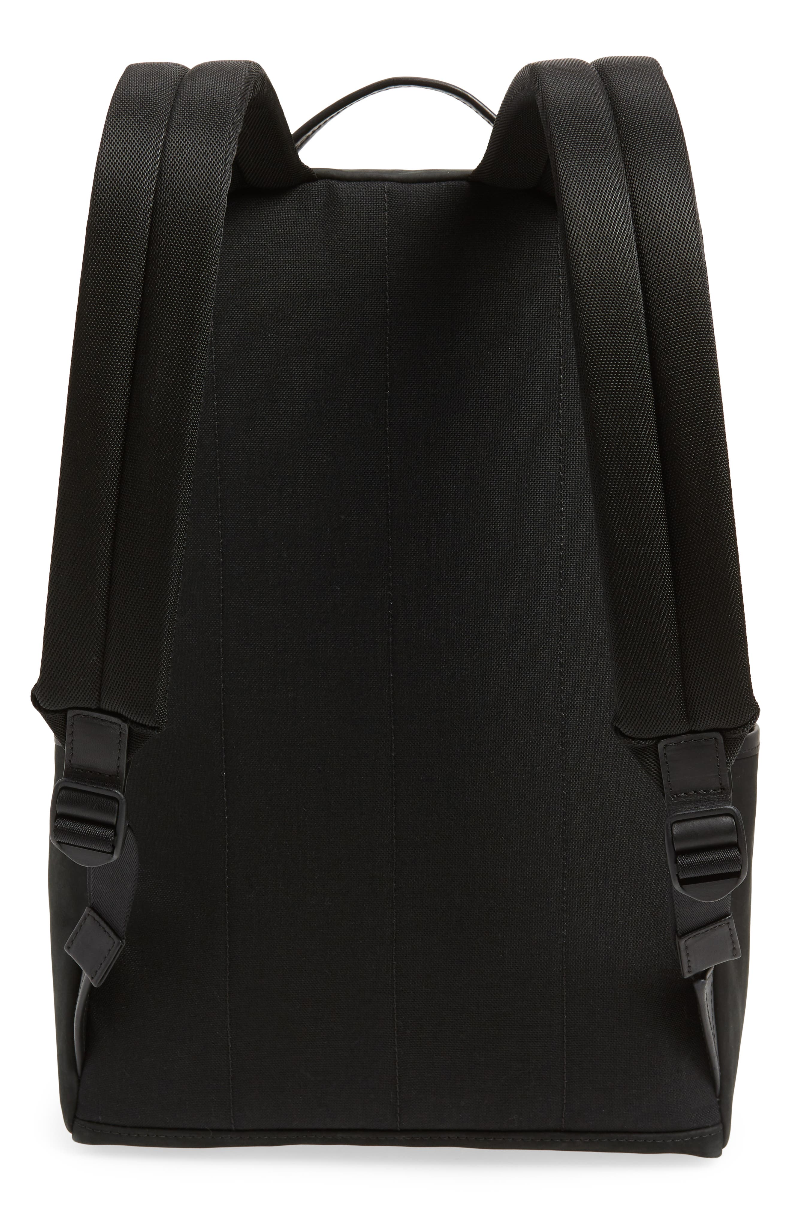 Nubuck Utility Backpack,                             Alternate thumbnail 3, color,                             BLACK