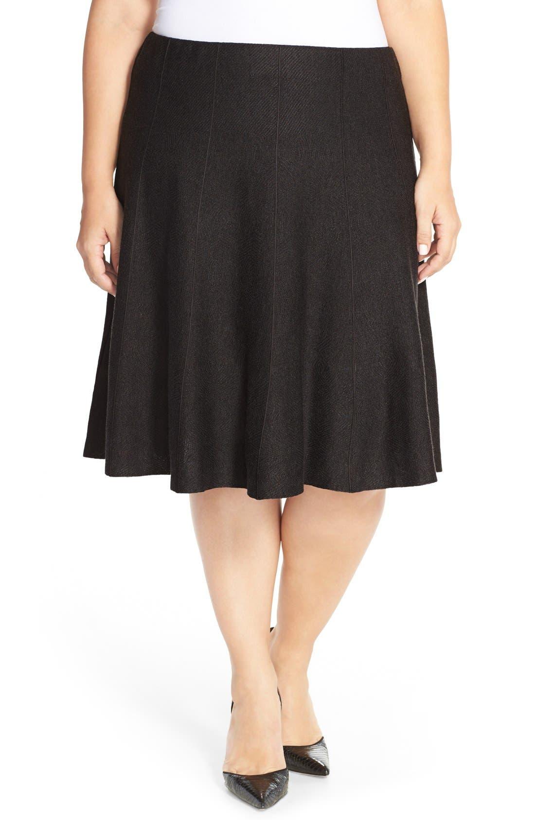 'Twirl Flirt' Paneled Skirt,                             Main thumbnail 1, color,                             004