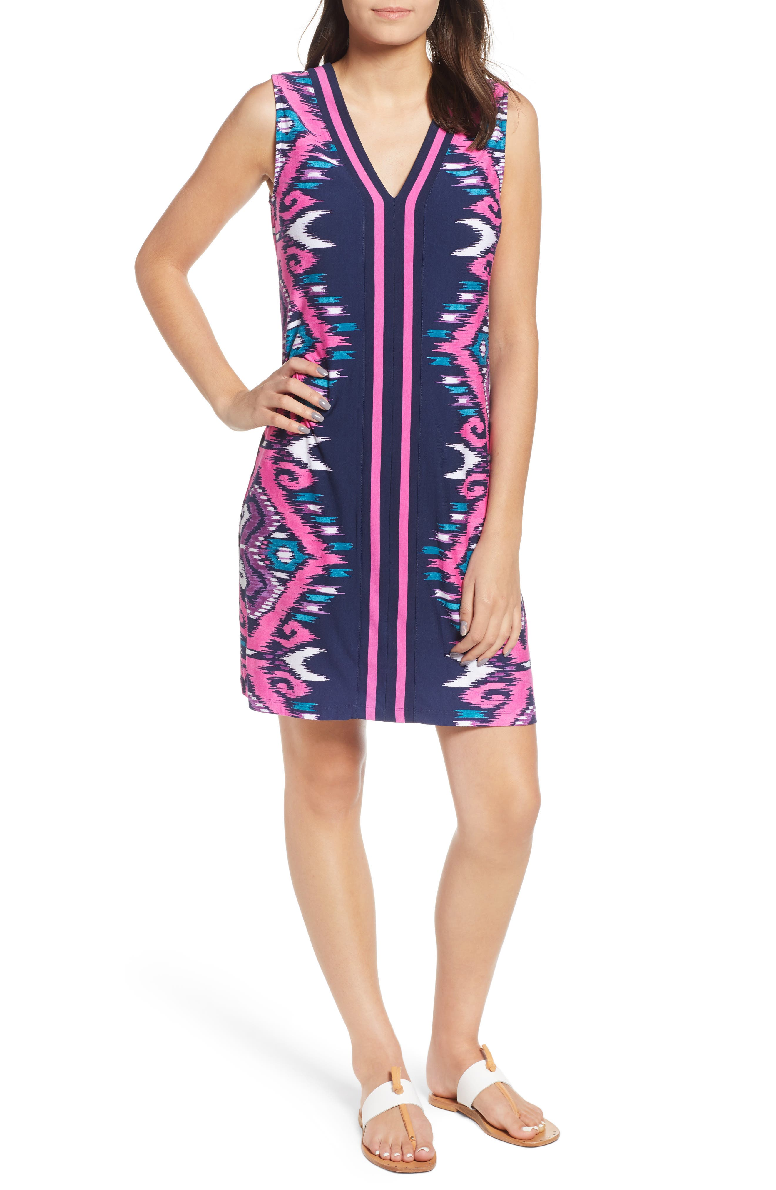 Tommy Bahama Cafe Azul Ikat Shift Dress