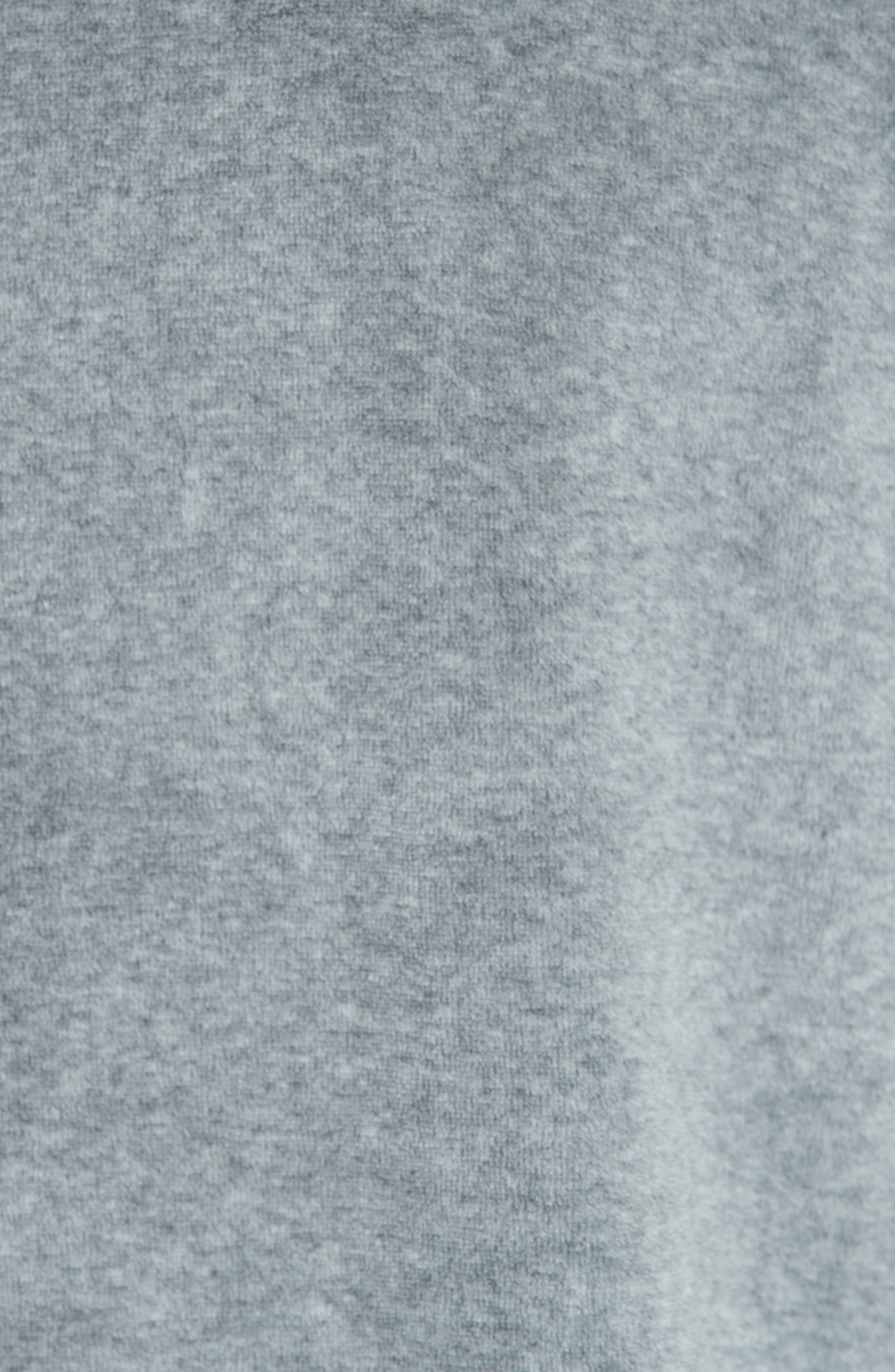 Velour T-Shirt,                             Alternate thumbnail 5, color,                             HEATHER GREY
