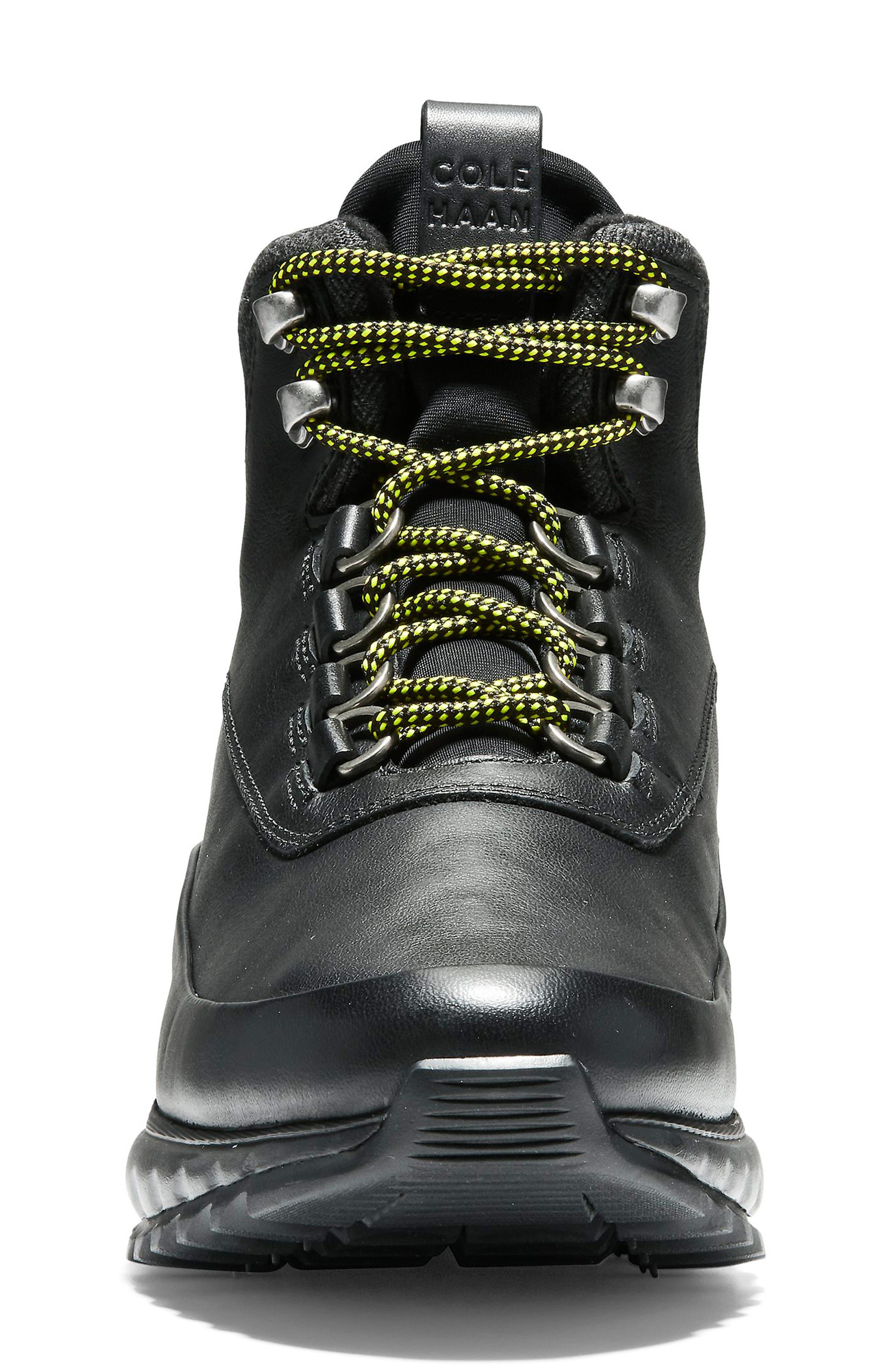 GrandExplore All Terrain Waterproof Hiking Boot,                             Alternate thumbnail 4, color,                             BLACK WATERPROOF LEATHER