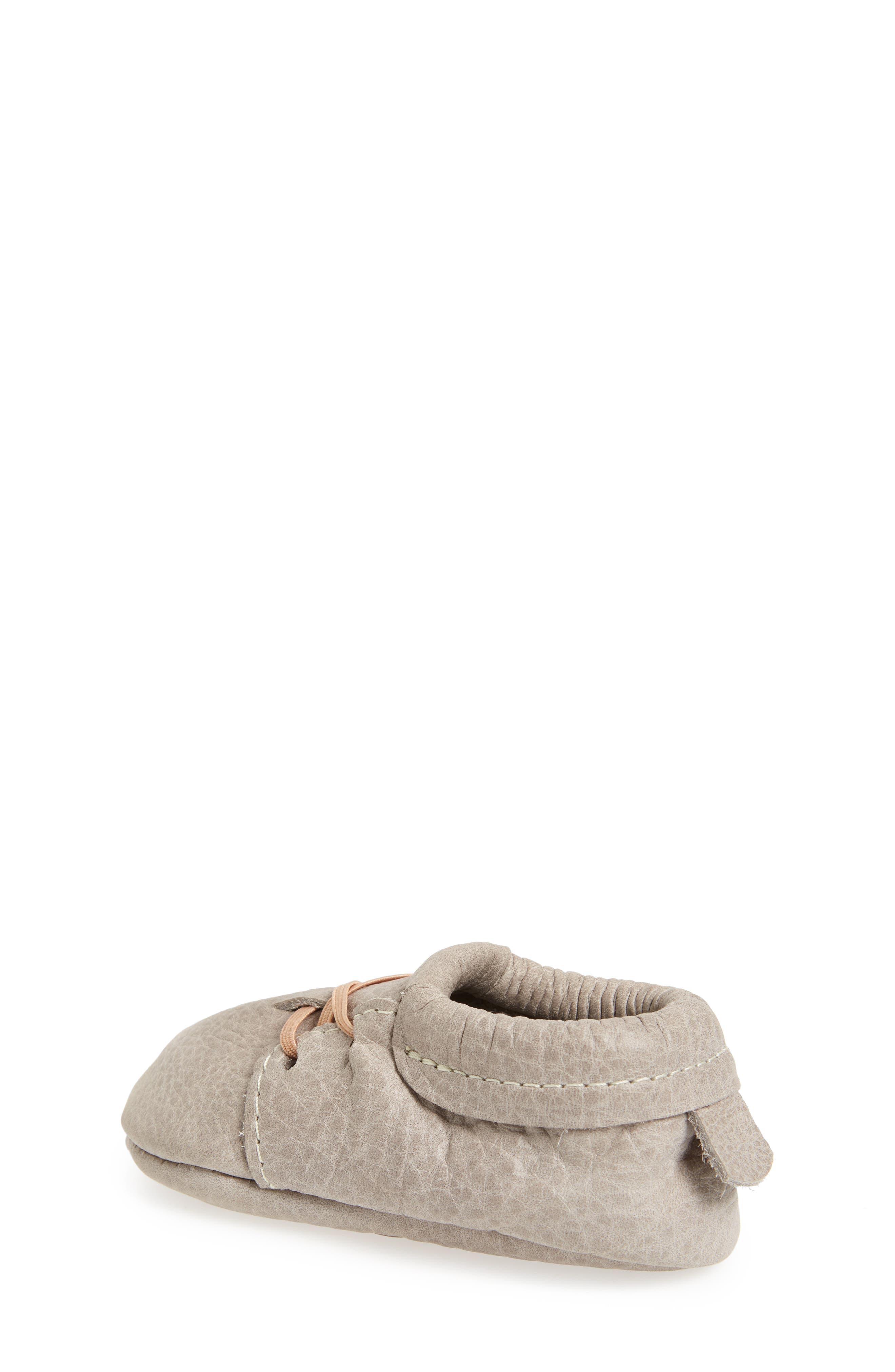 Oxford Crib Shoe,                             Alternate thumbnail 2, color,                             GRAY