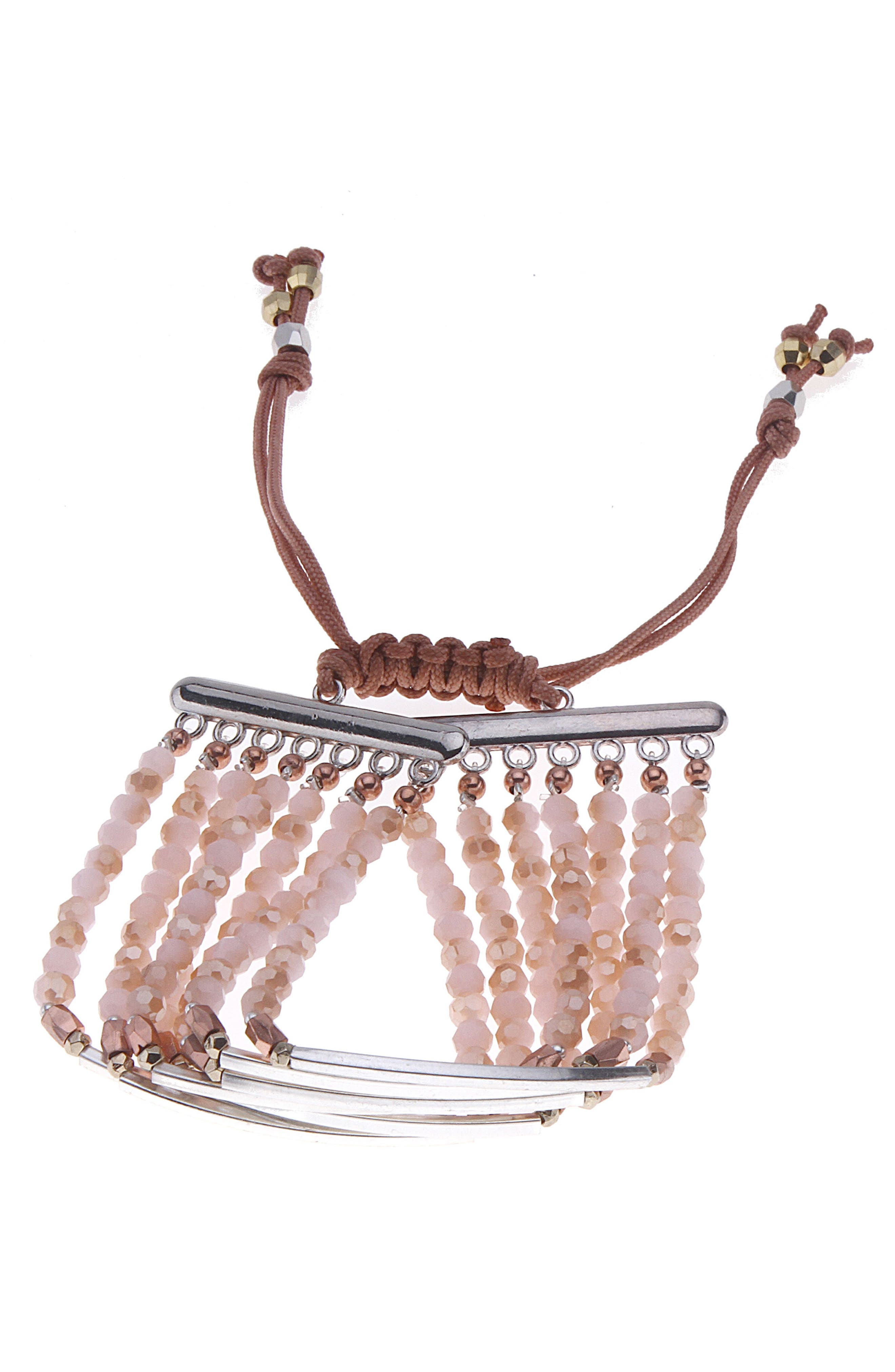 Bar Charm & Beaded Bracelet,                             Main thumbnail 3, color,