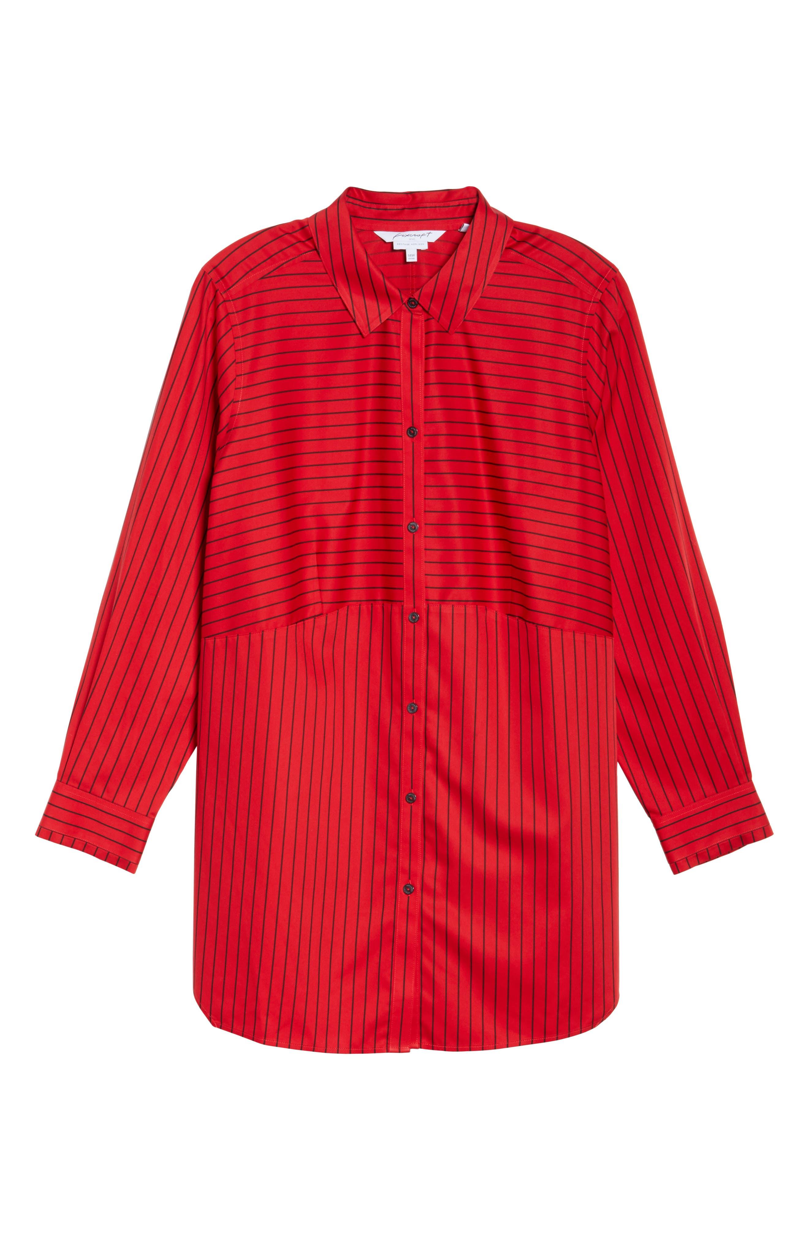 Gina Holiday Stripe Shirt,                             Alternate thumbnail 12, color,