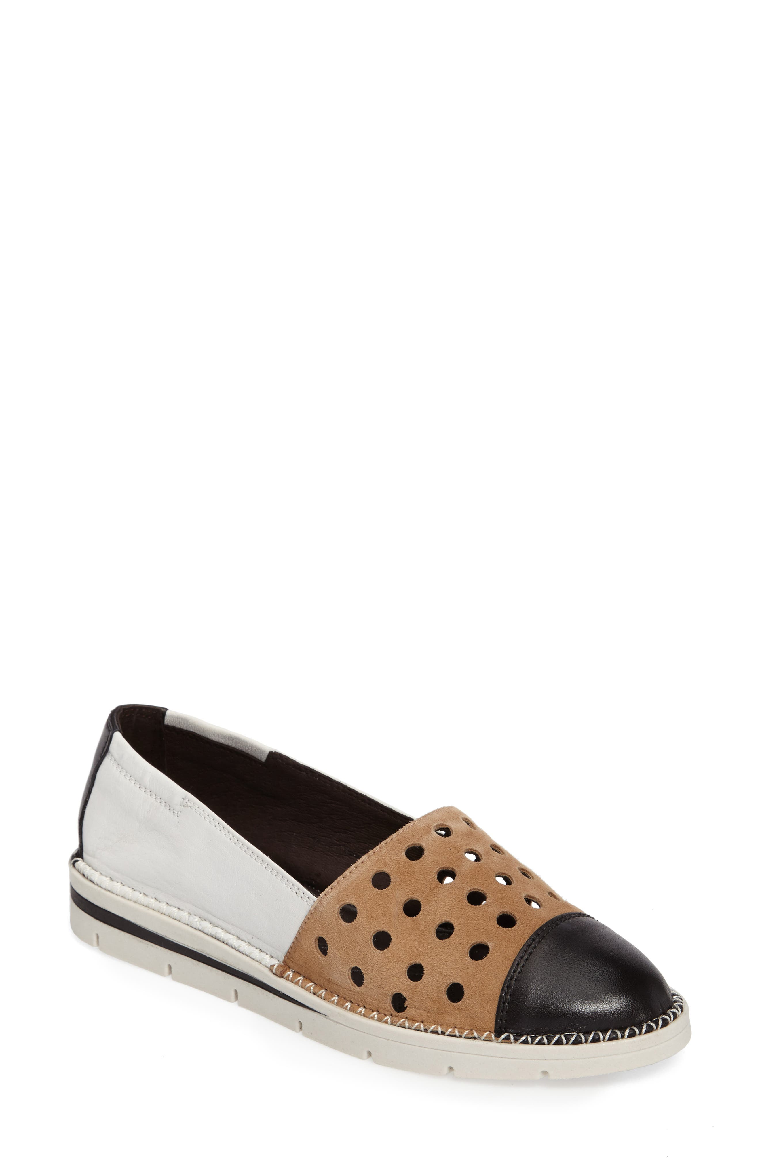 Chica Mixed Finish Slip-On,                             Main thumbnail 1, color,                             001