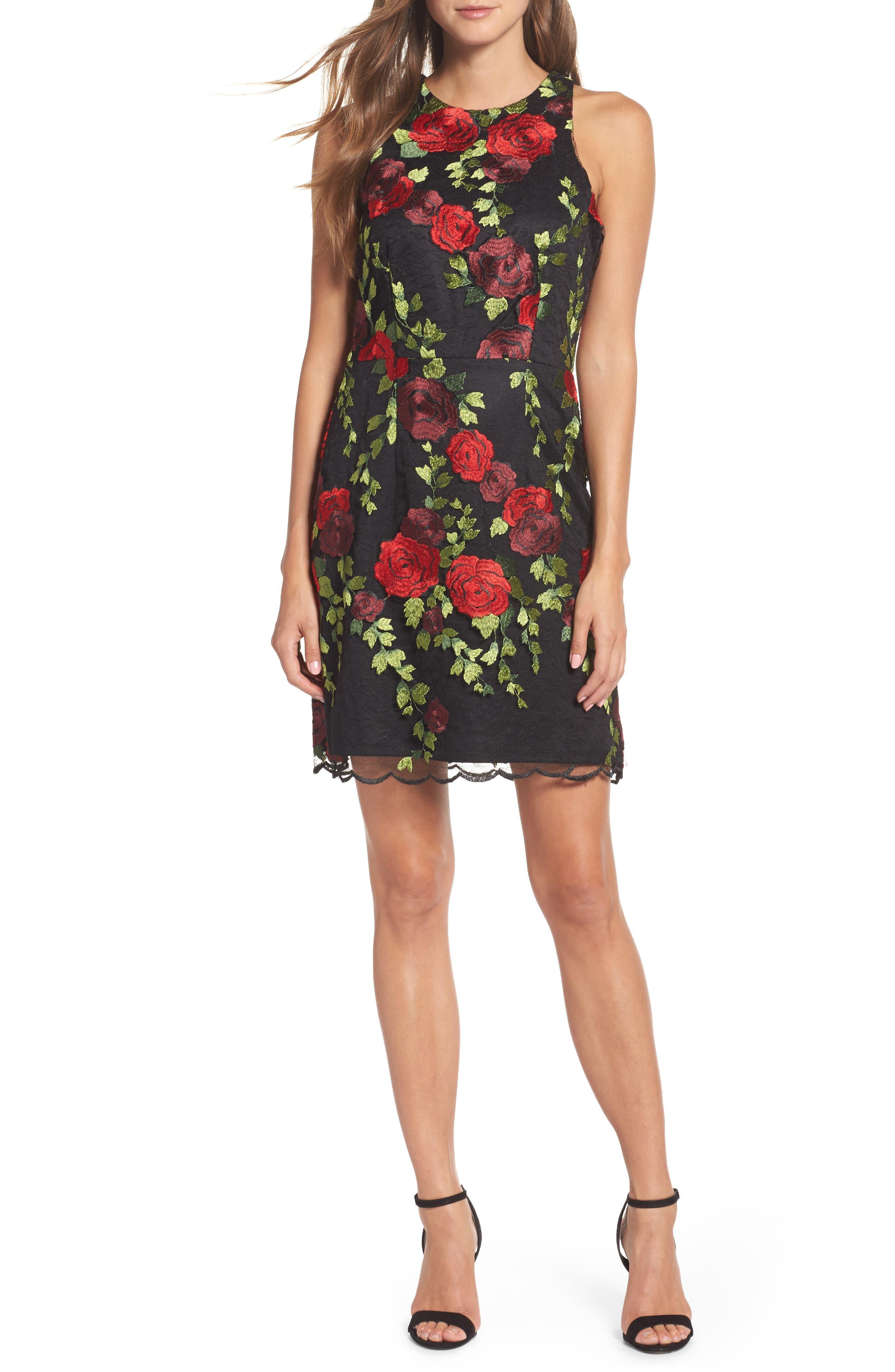 Lace Sheath Dress,                             Main thumbnail 1, color,                             007