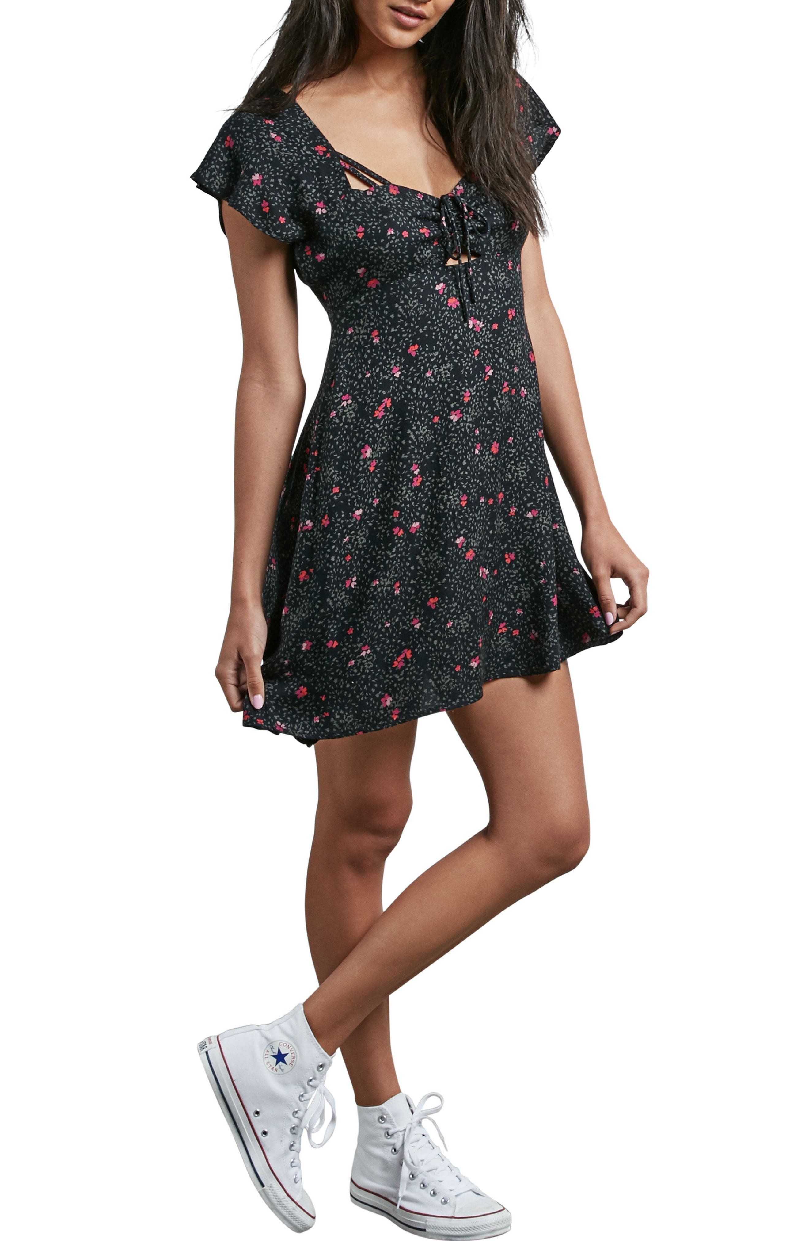 It's a Cinch Babydoll Dress,                             Main thumbnail 1, color,                             001