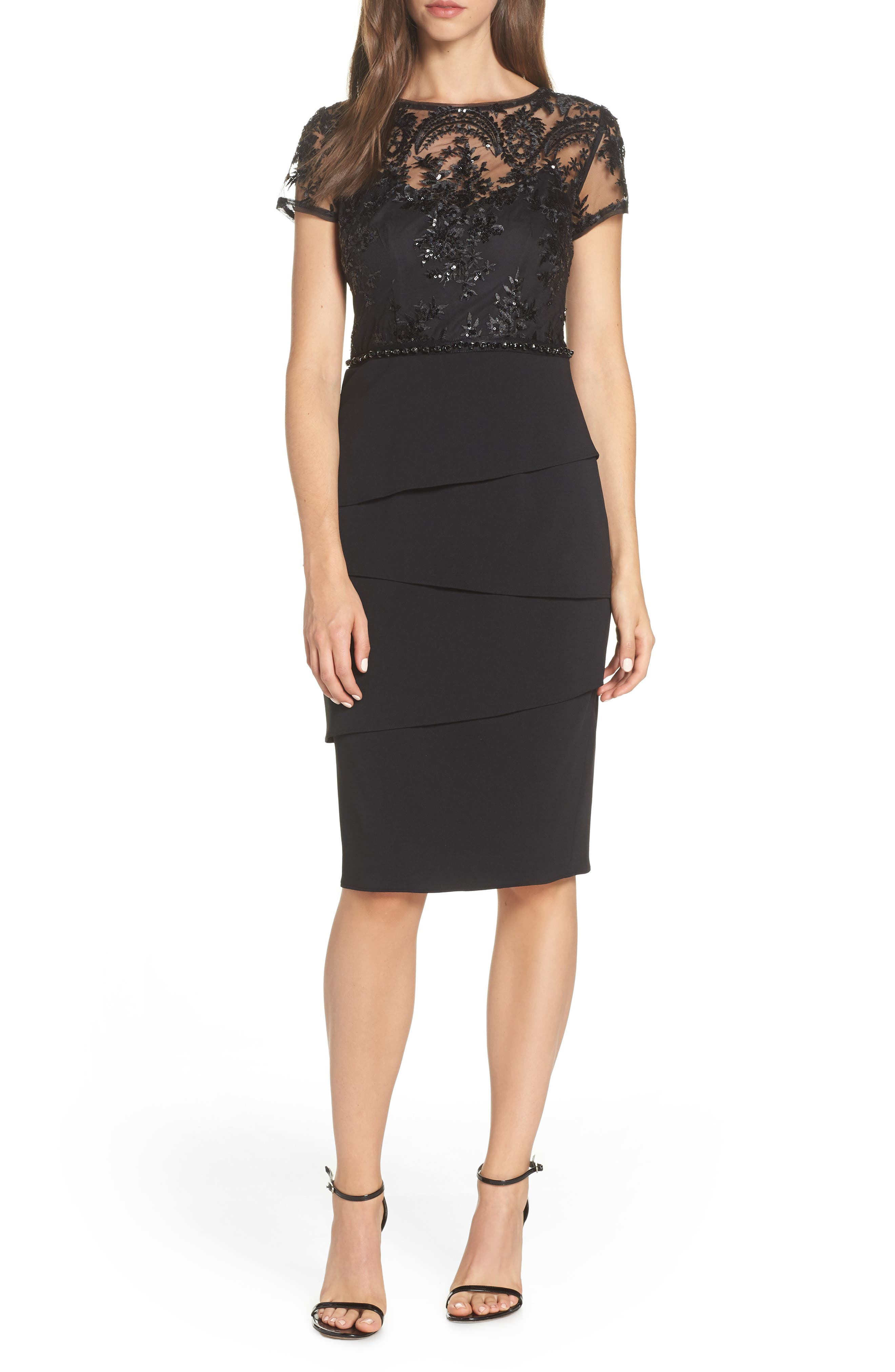 Adrianna Papell Sequin Cocktail Sheath