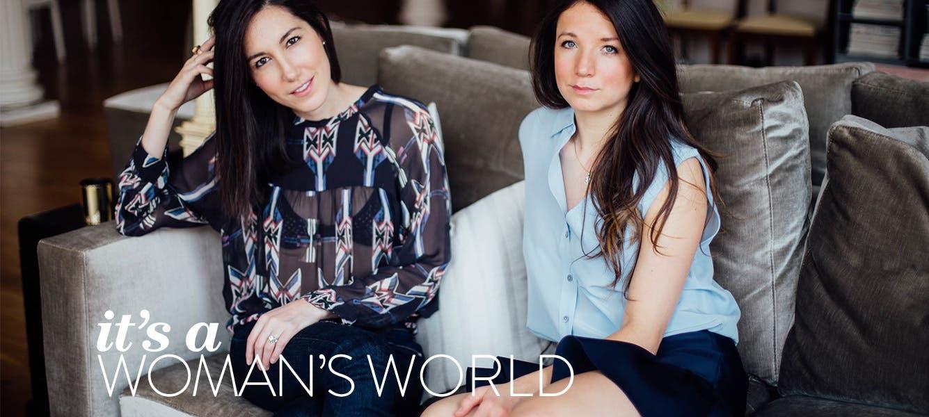 Negative Underwear founders Lauren Schwab and Marissa Vosper.