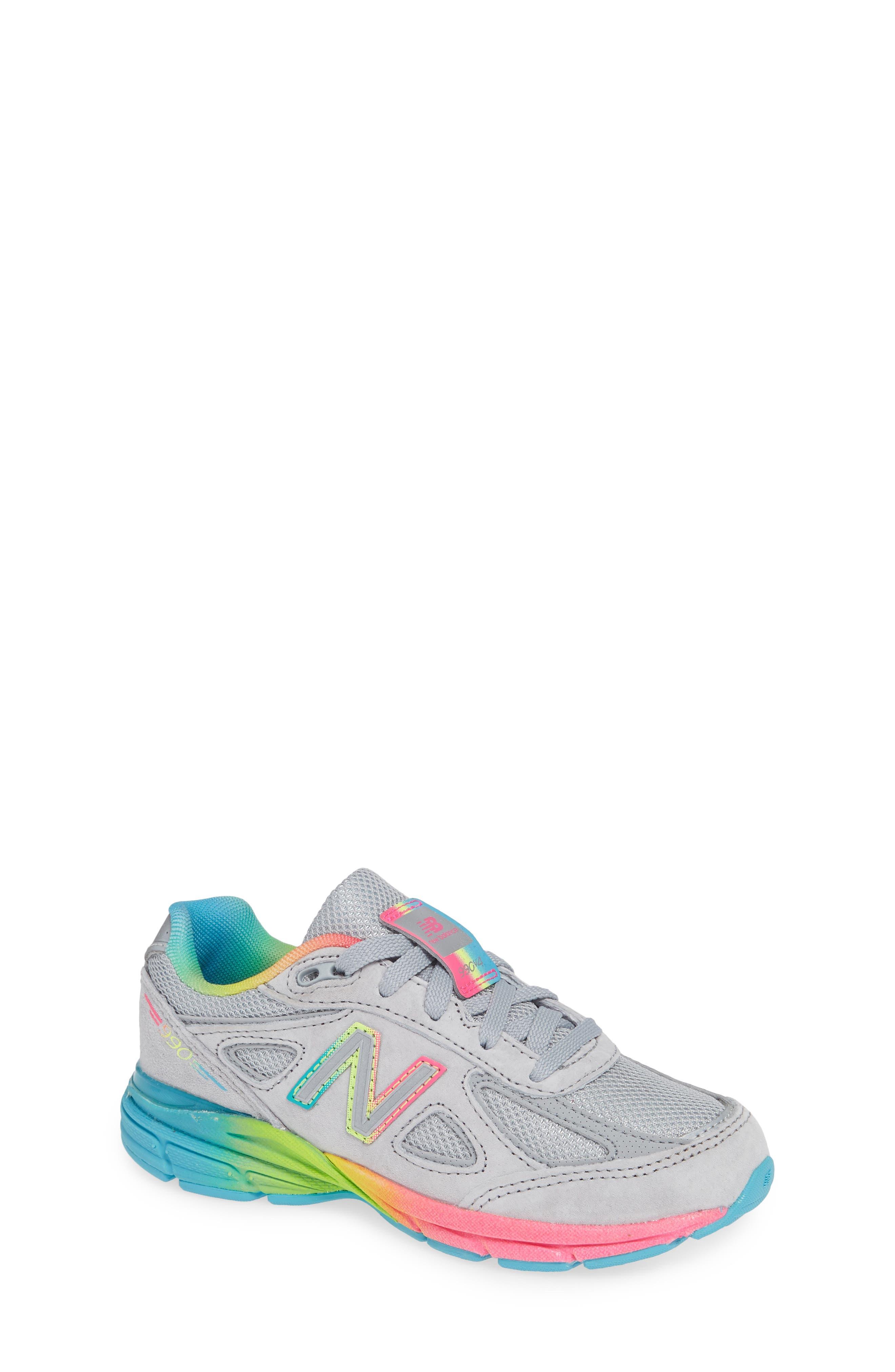 990v4 Sneaker,                         Main,                         color, ATHLETIC GREY/ MULTI