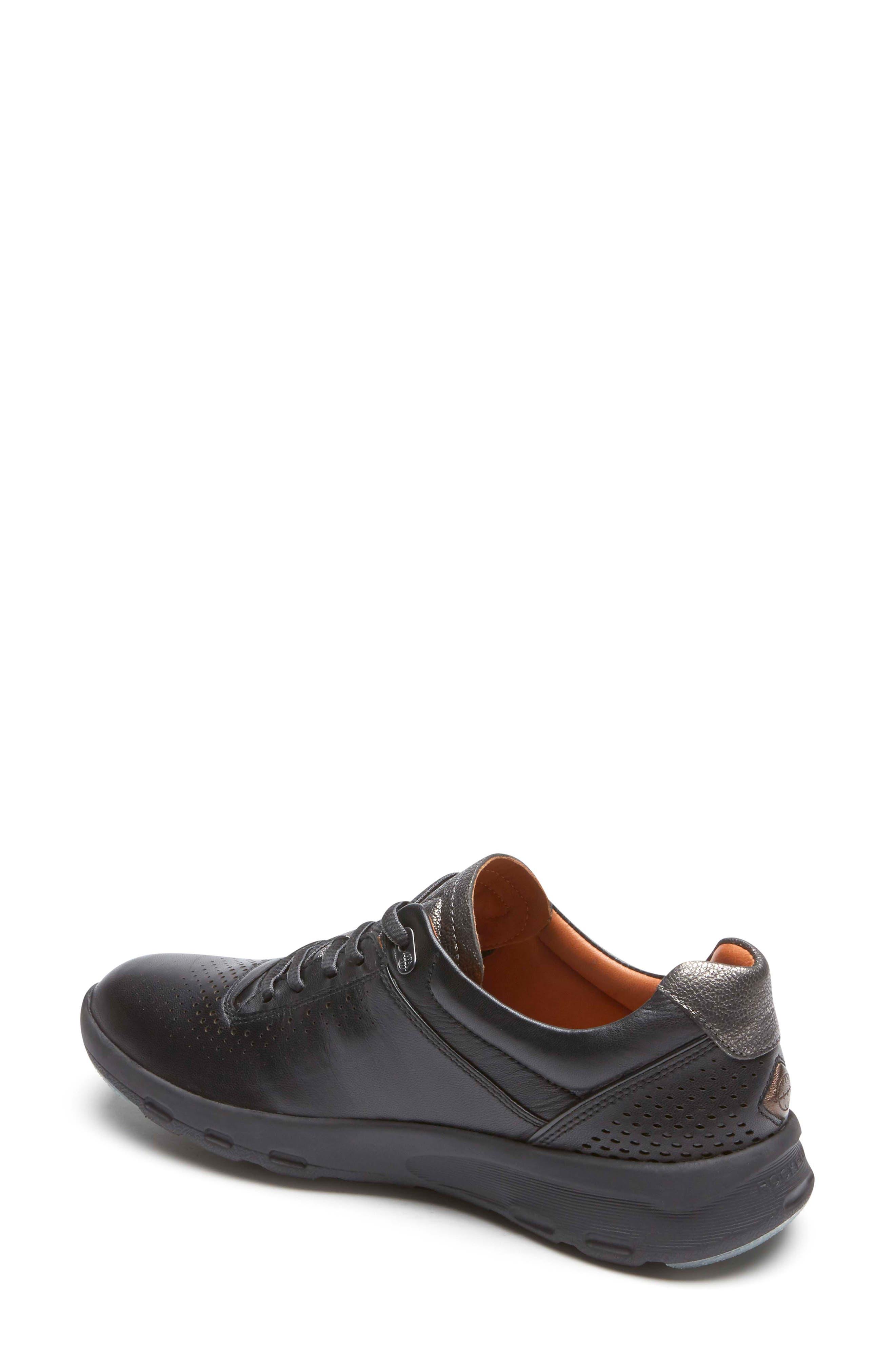 ROCKPORT,                             Let's Walk<sup>®</sup> Ubal Sneaker,                             Alternate thumbnail 2, color,                             BLACK/ BLACK LEATHER
