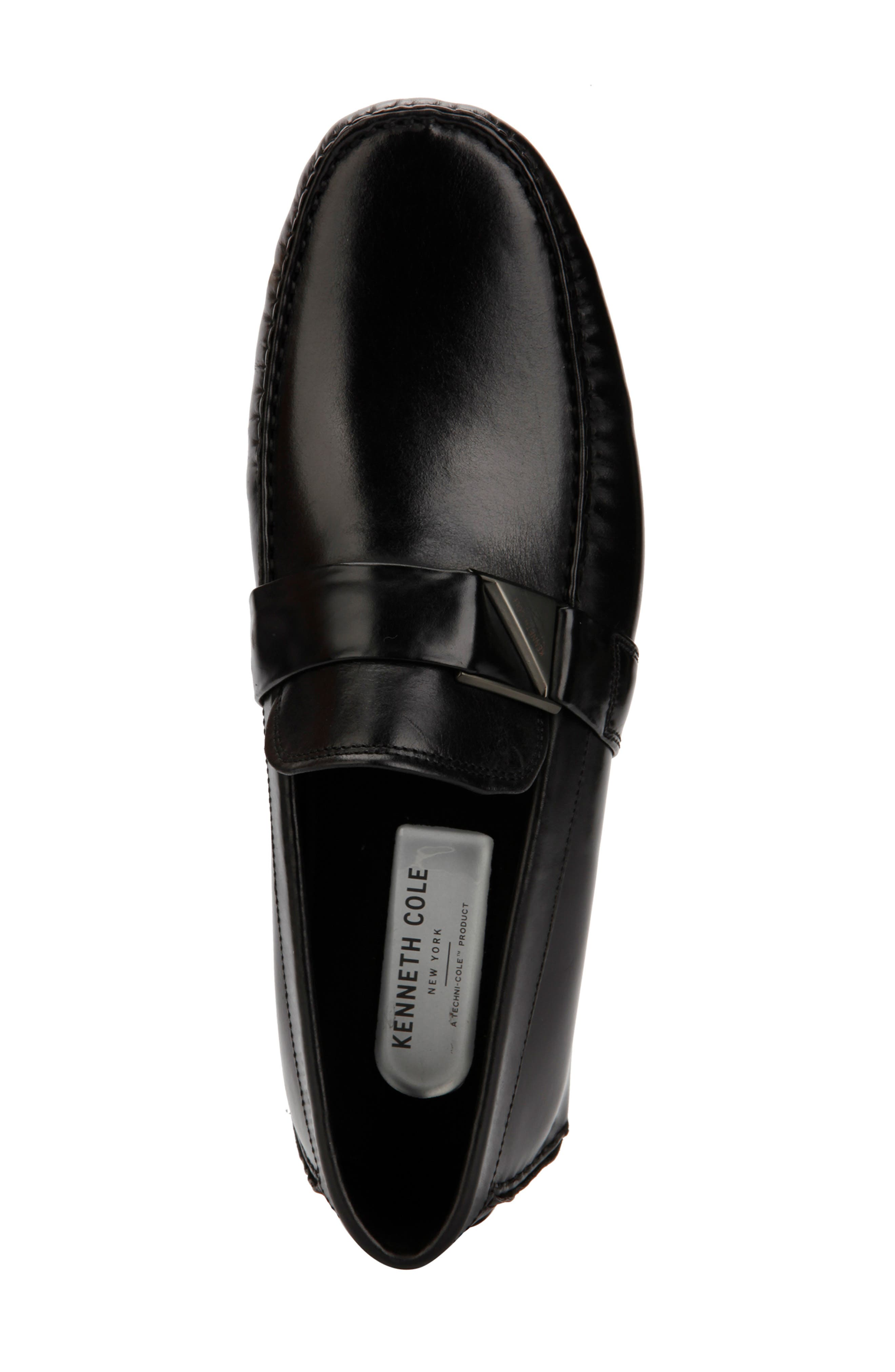 KENNETH COLE NEW YORK,                             Theme Driving Shoe,                             Alternate thumbnail 3, color,                             BLACK LEATHER