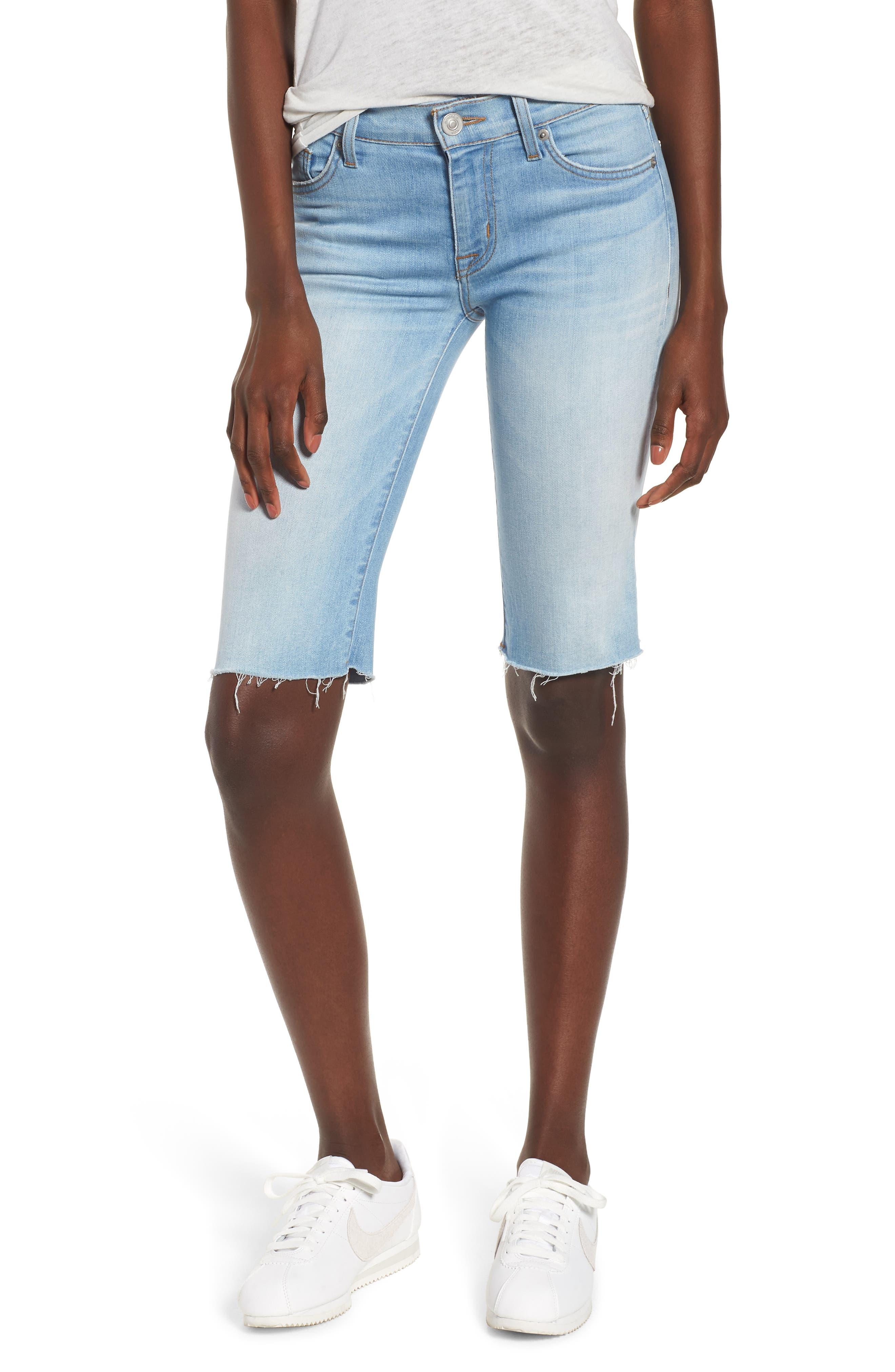 HUDSON JEANS,                             Amelia Cutoff Knee Shorts,                             Main thumbnail 1, color,                             457