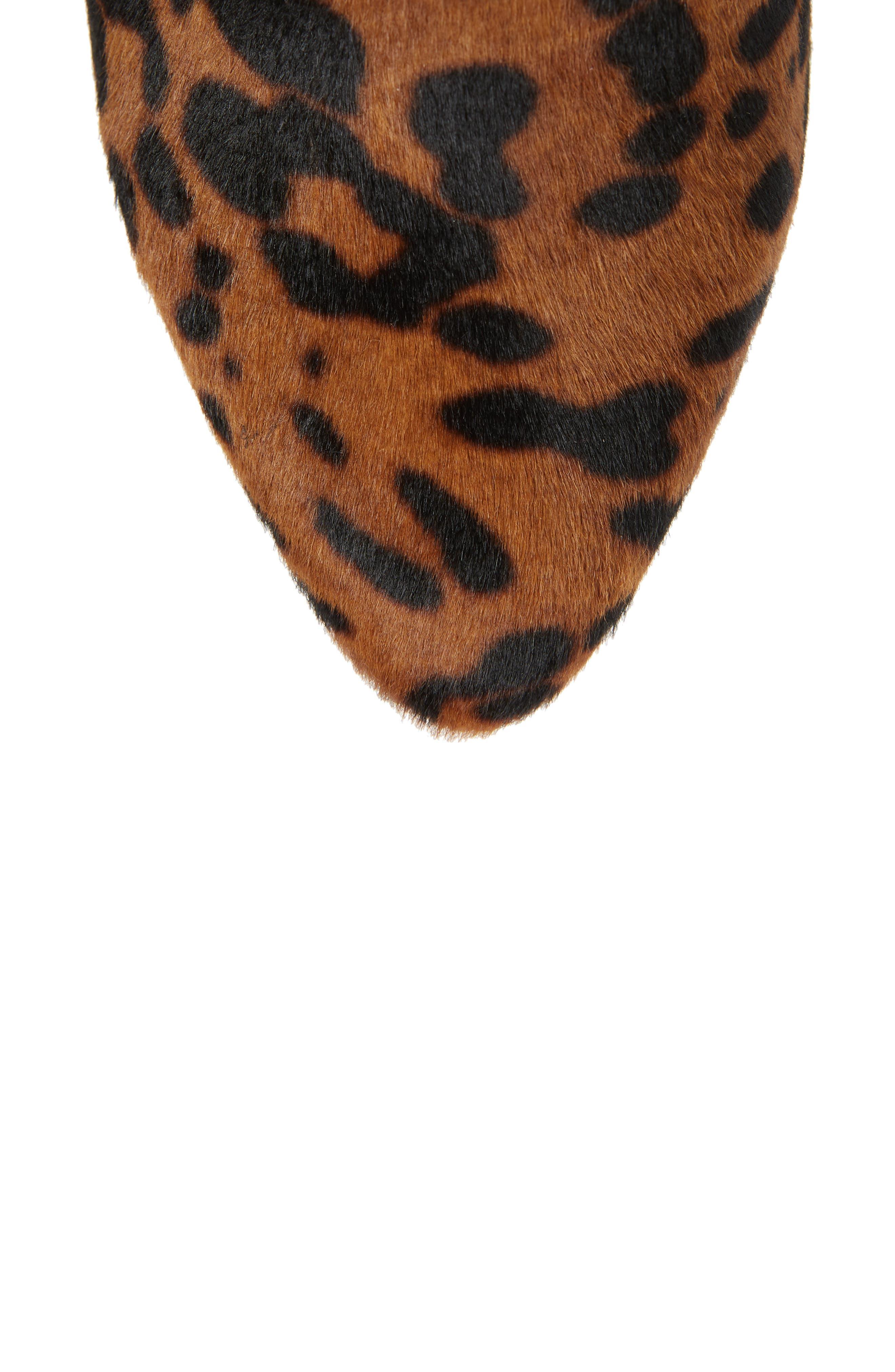 Olivia Genuine Calf Hair Boot,                             Alternate thumbnail 5, color,                             LEOPARD CALF HAIR