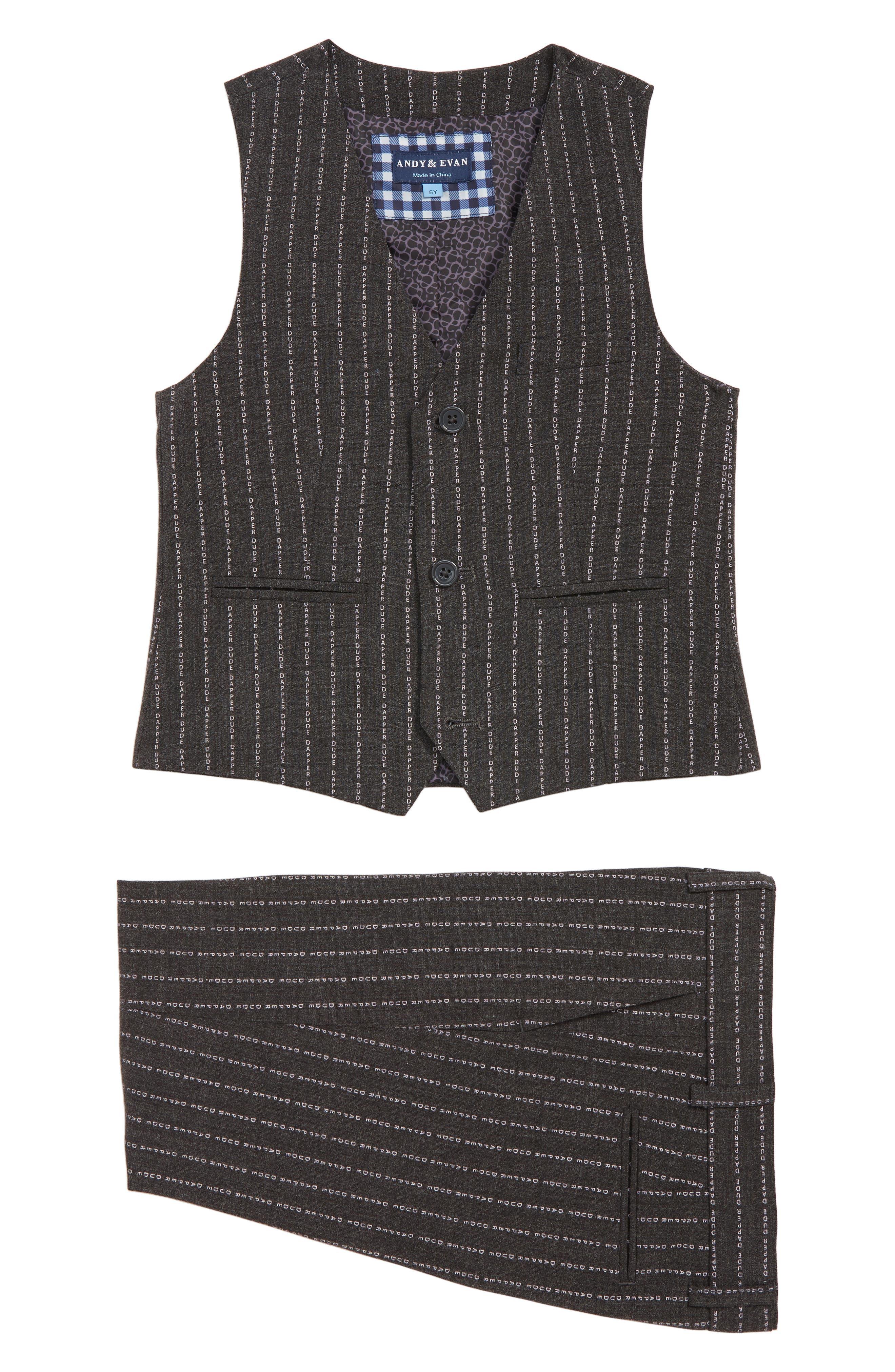 Vest & Pants Set,                             Main thumbnail 1, color,                             GREY