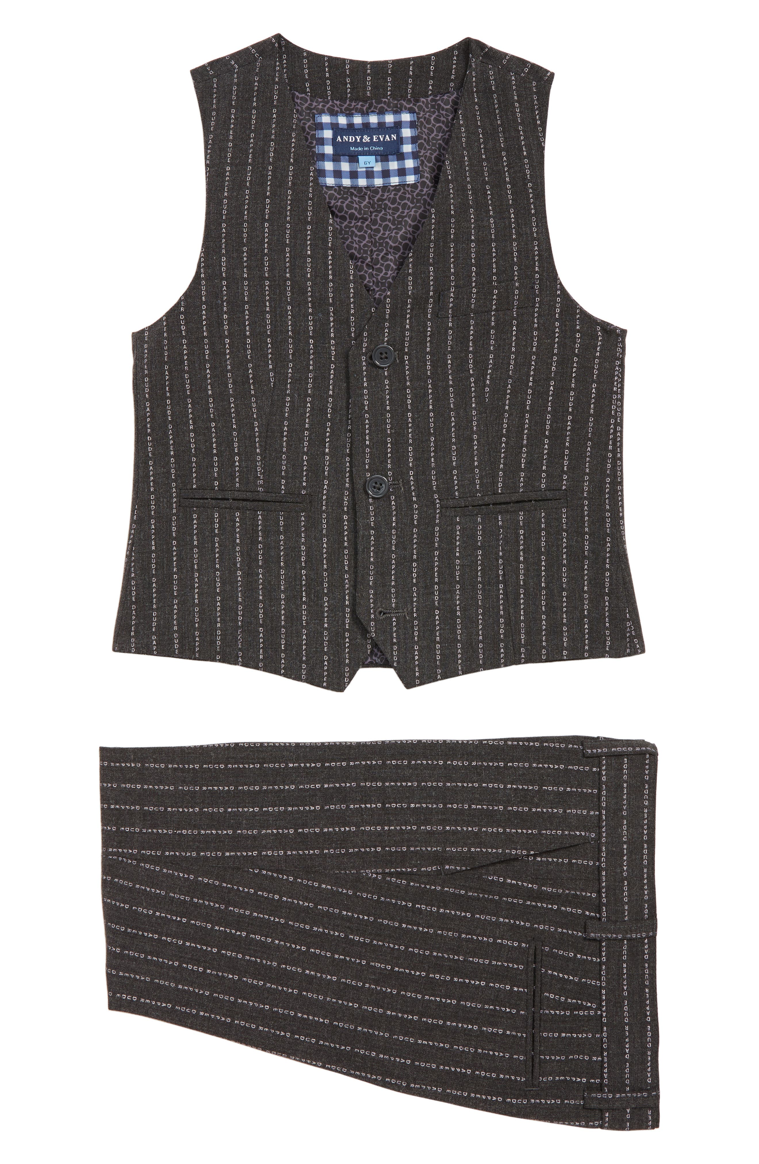 Vest & Pants Set,                         Main,                         color, GREY