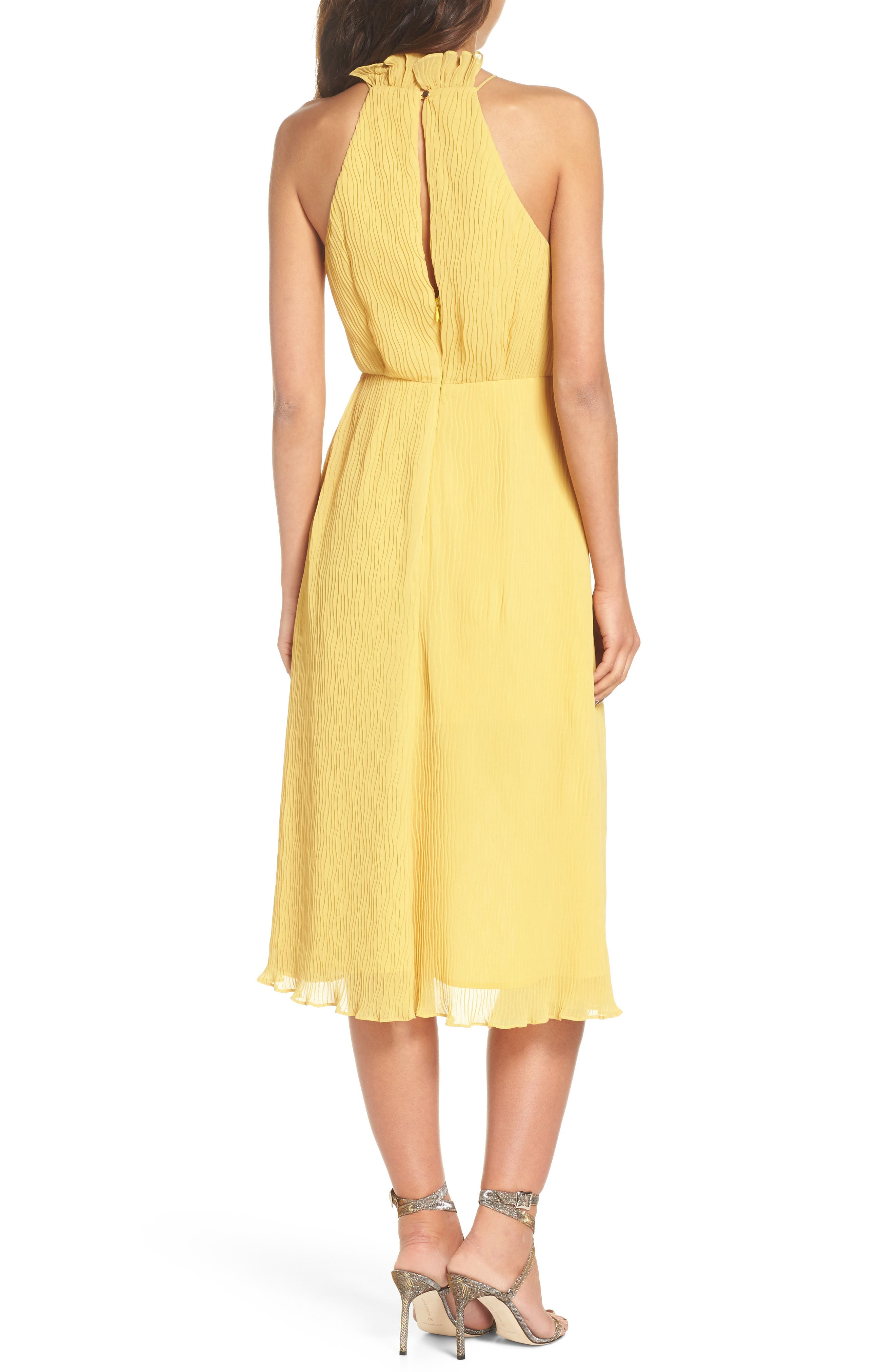Skylines Halter Midi Dress,                             Alternate thumbnail 4, color,