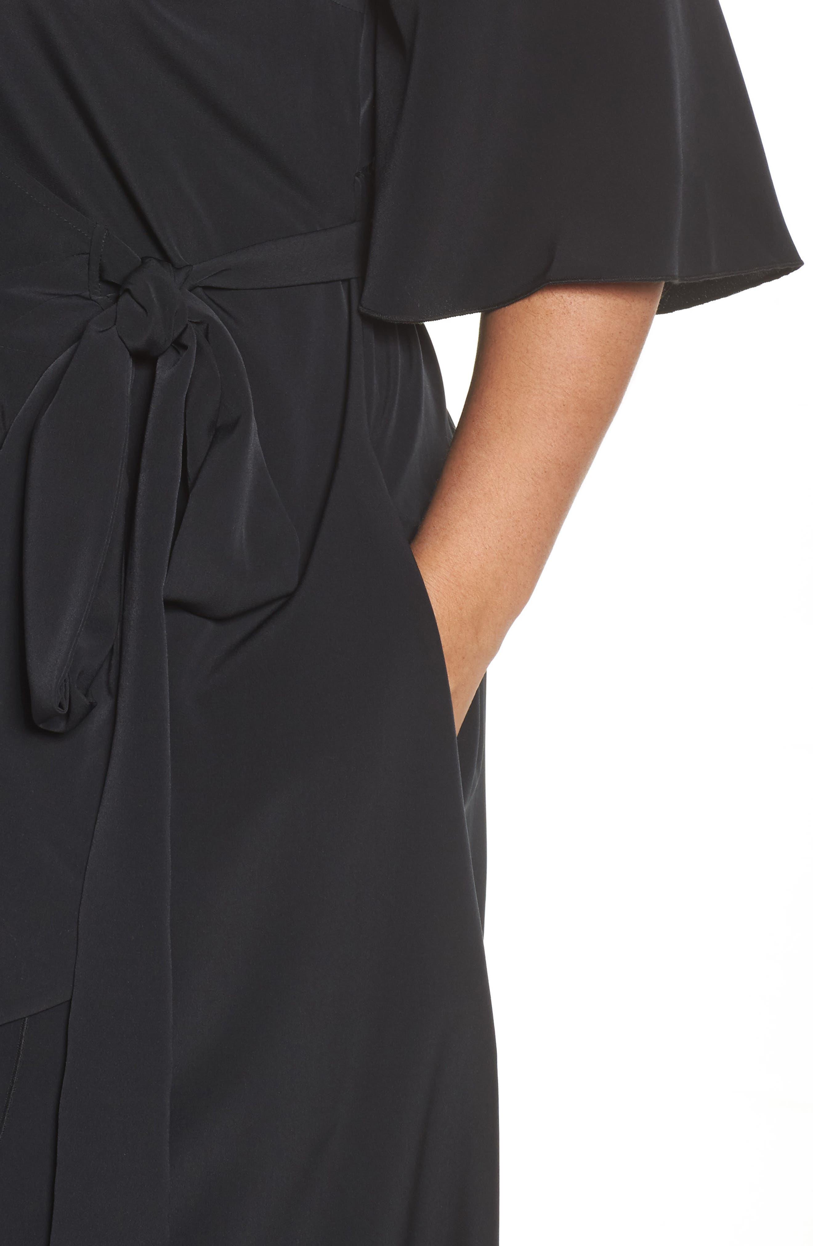 Wrap Dress,                             Alternate thumbnail 4, color,                             001