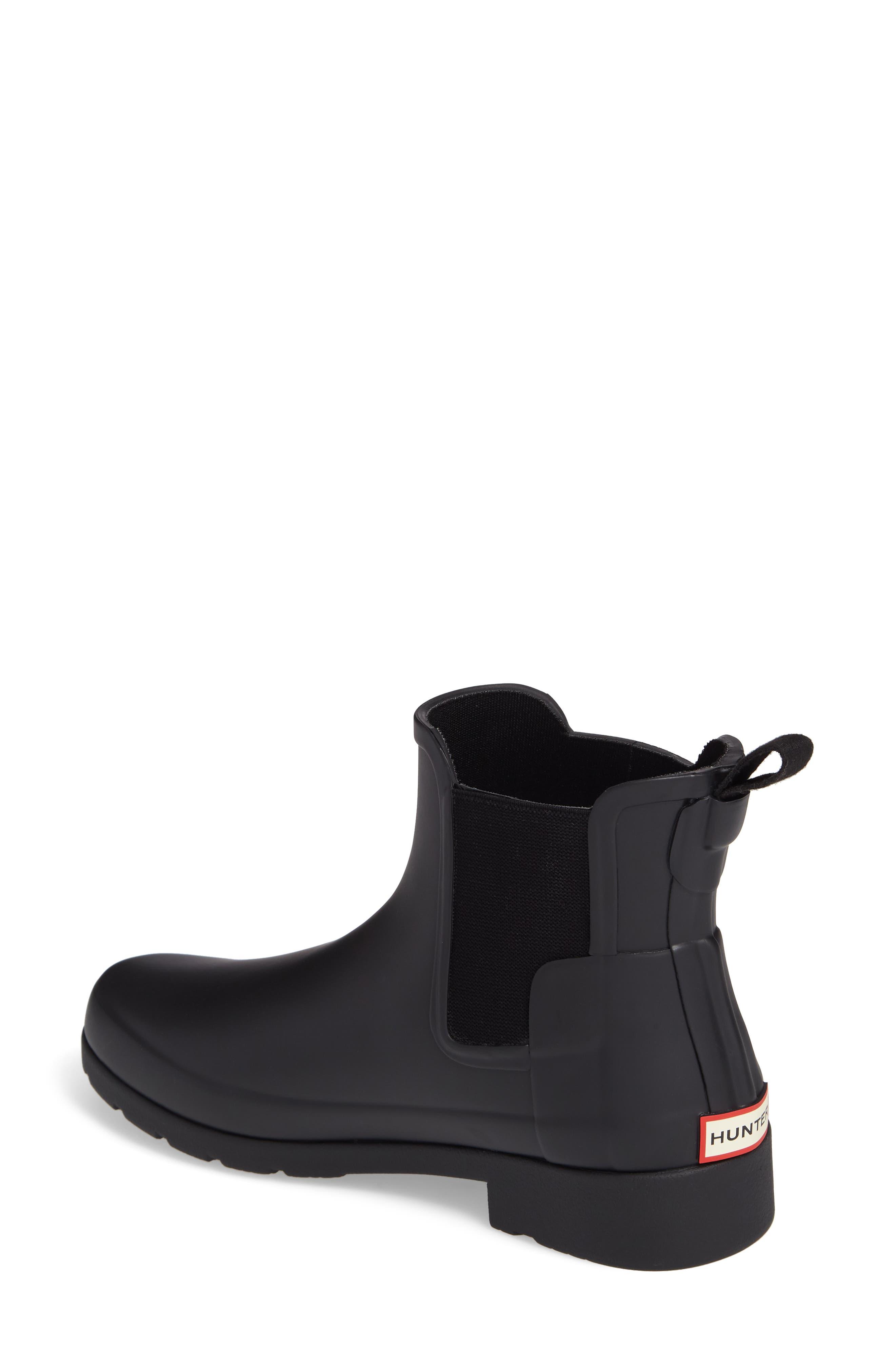 Refined Chelsea Boot,                             Alternate thumbnail 2, color,                             BLACK