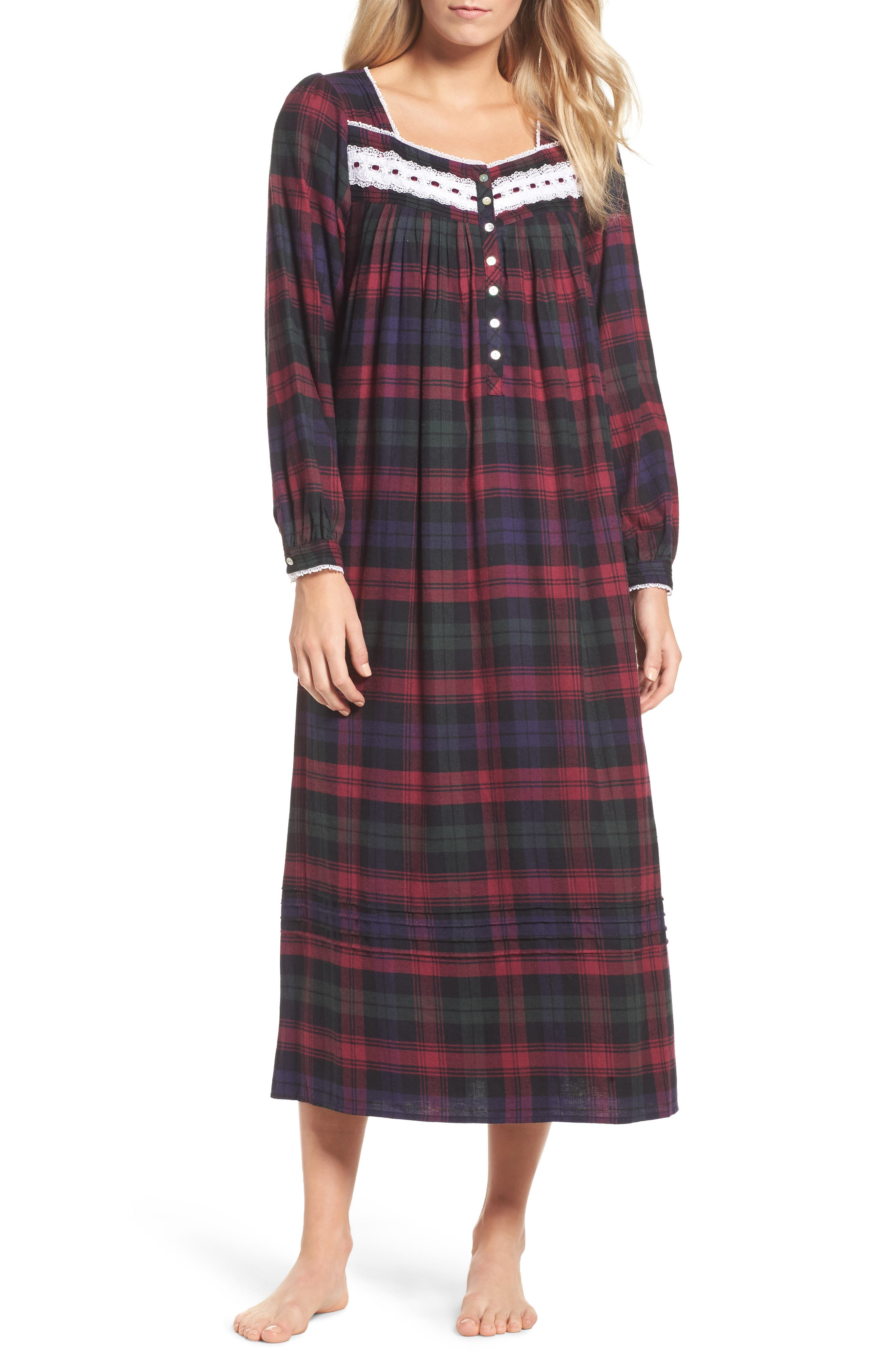 Ballet Flannel Nightgown,                             Main thumbnail 2, color,