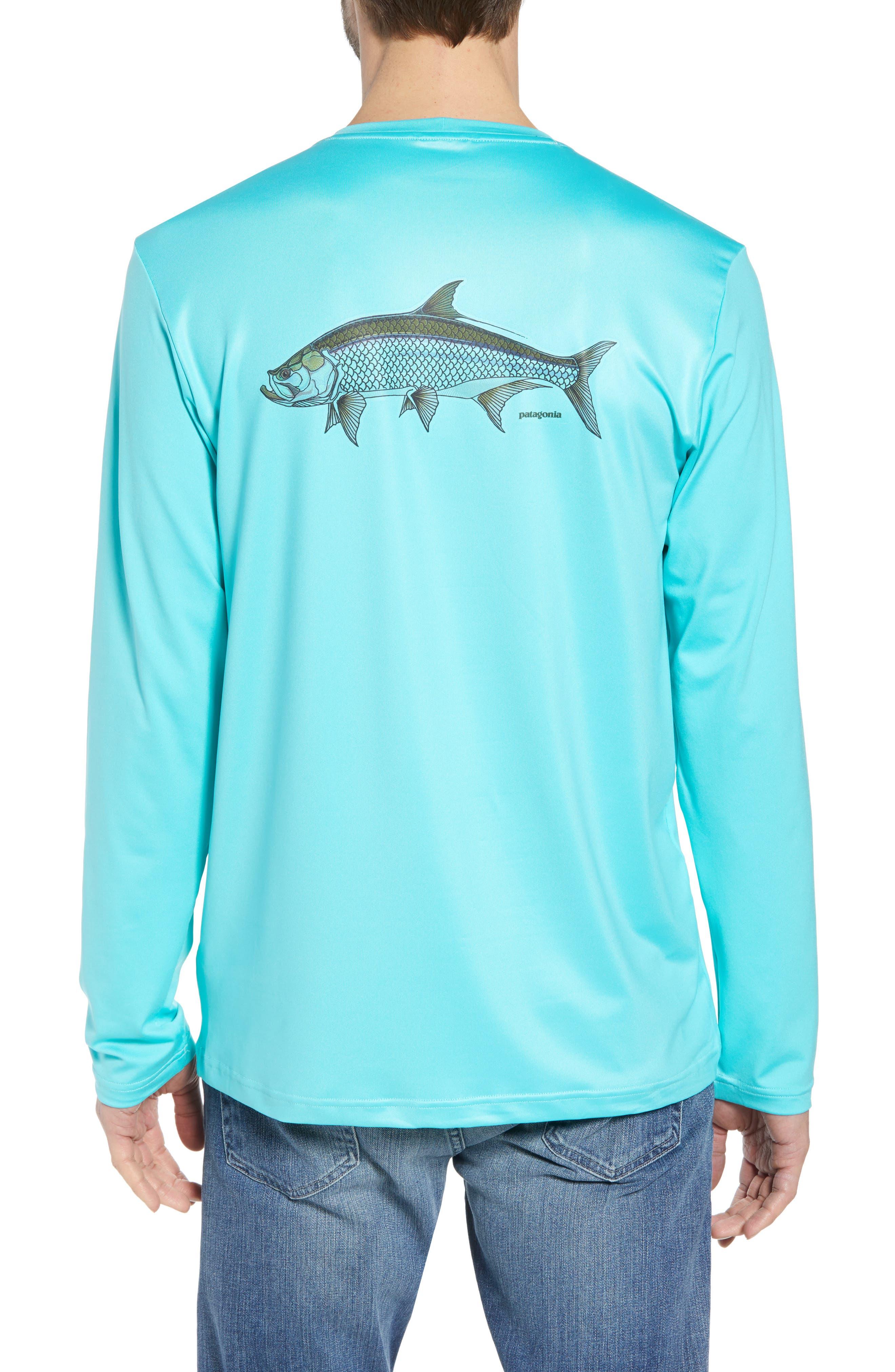Tech Fish Graphic Long Sleeve T-Shirt,                             Alternate thumbnail 7, color,