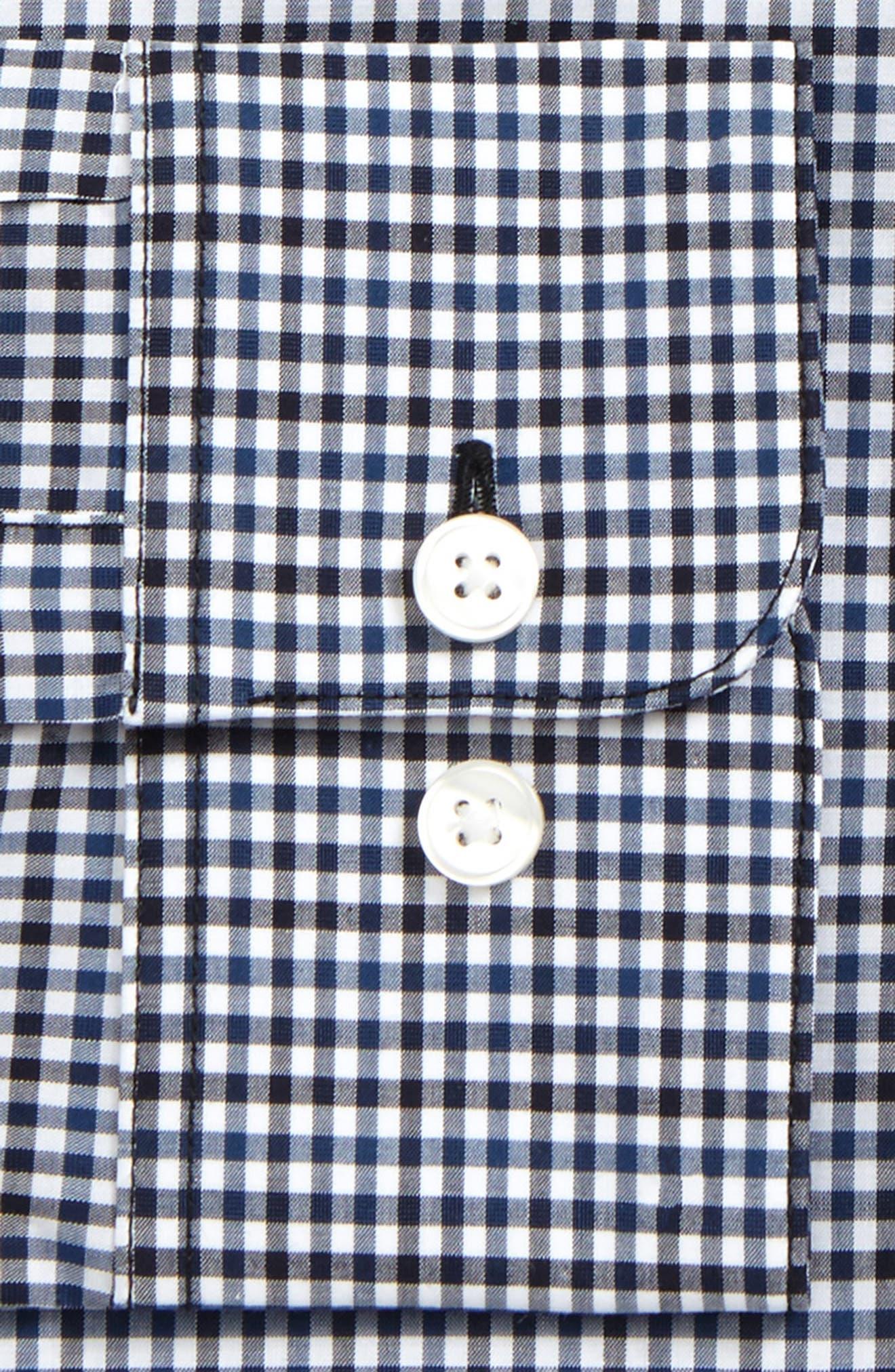 Regular Fit Stretch Check Dress Shirt,                             Alternate thumbnail 2, color,                             412