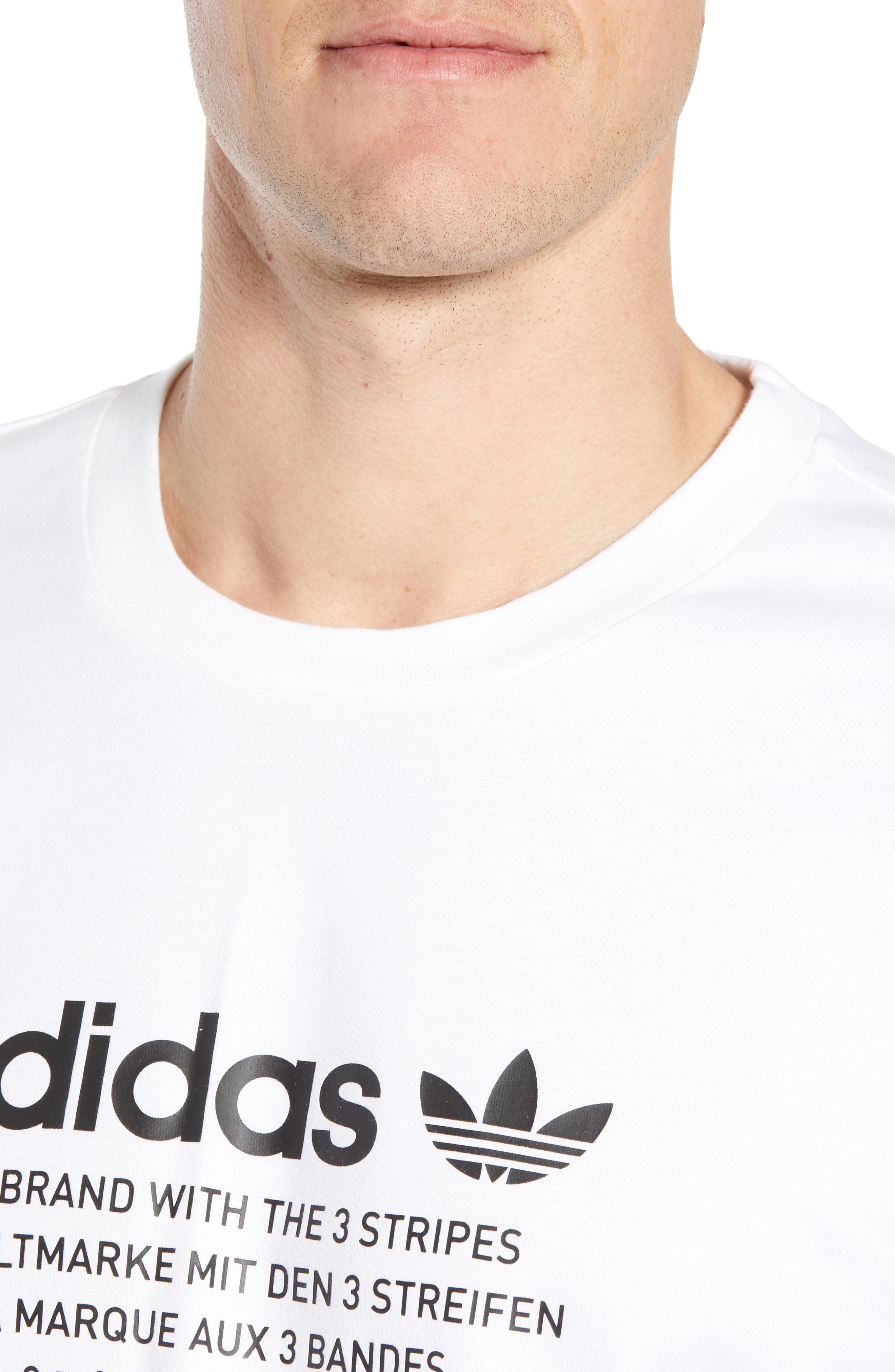 NMD Graphic T-Shirt,                             Alternate thumbnail 4, color,                             WHITE