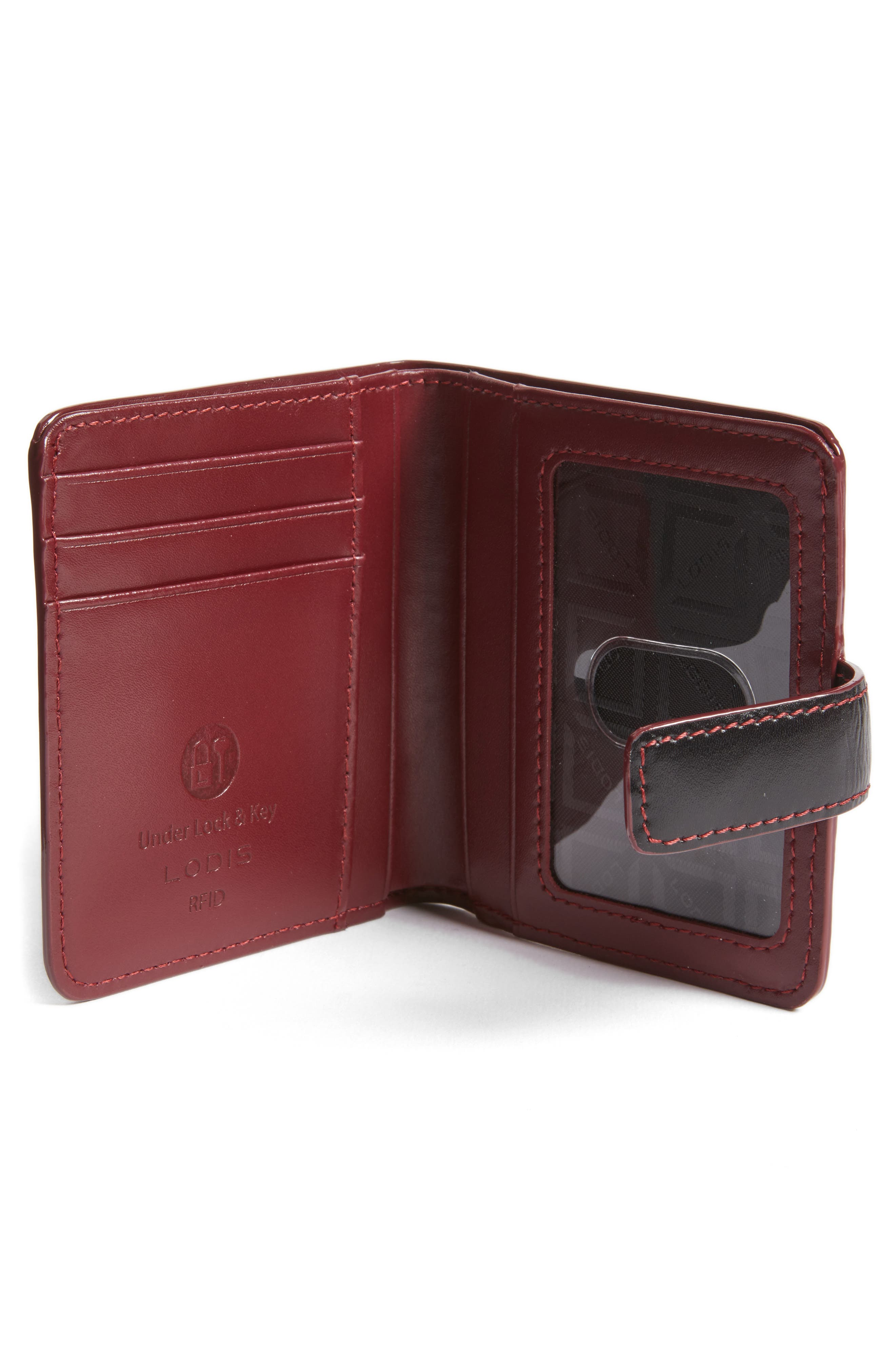 Lodis Petite Audrey RFID Leather Wallet,                             Alternate thumbnail 4, color,