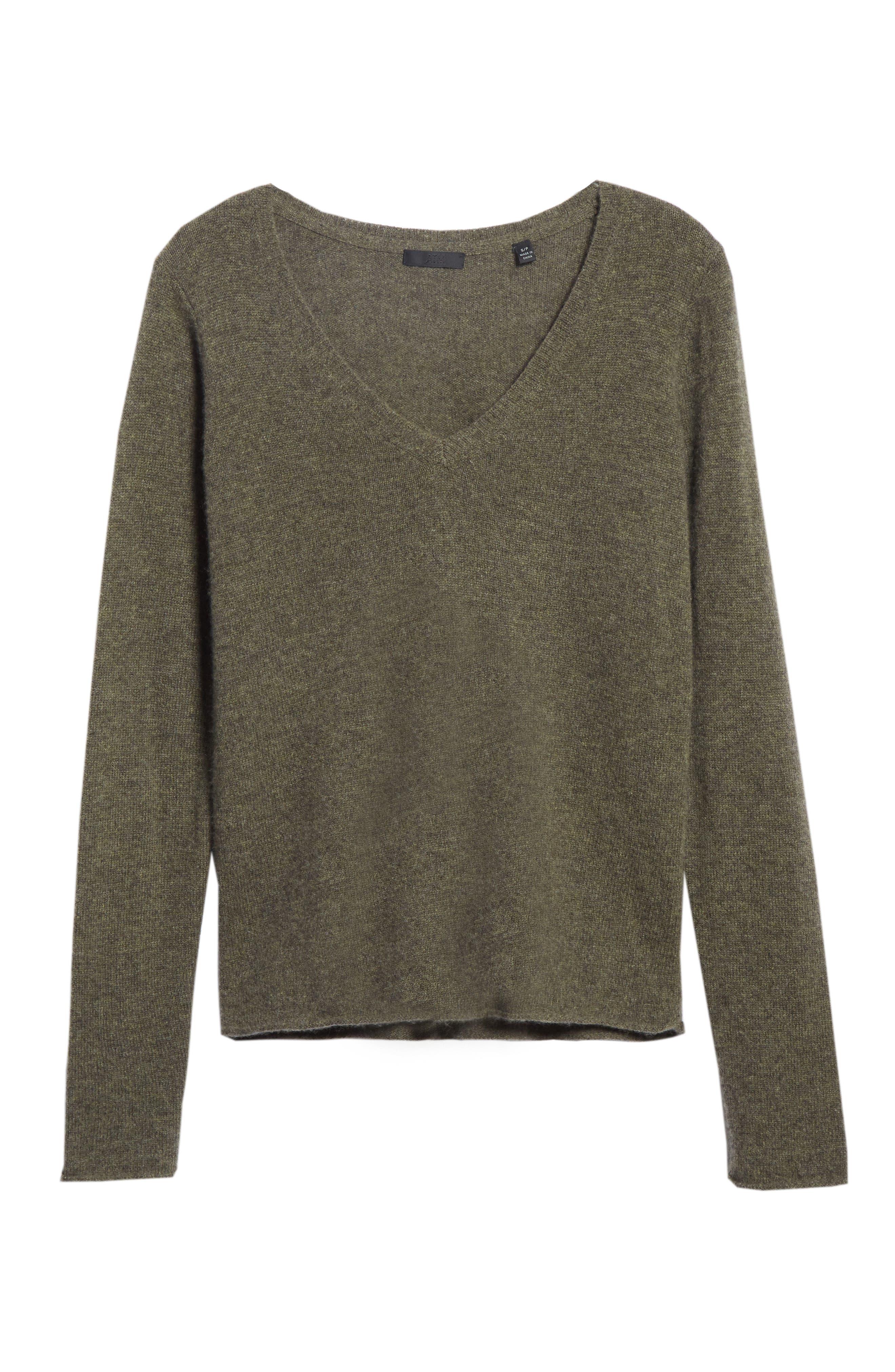 Cashmere V-Neck Sweater,                             Alternate thumbnail 6, color,                             335