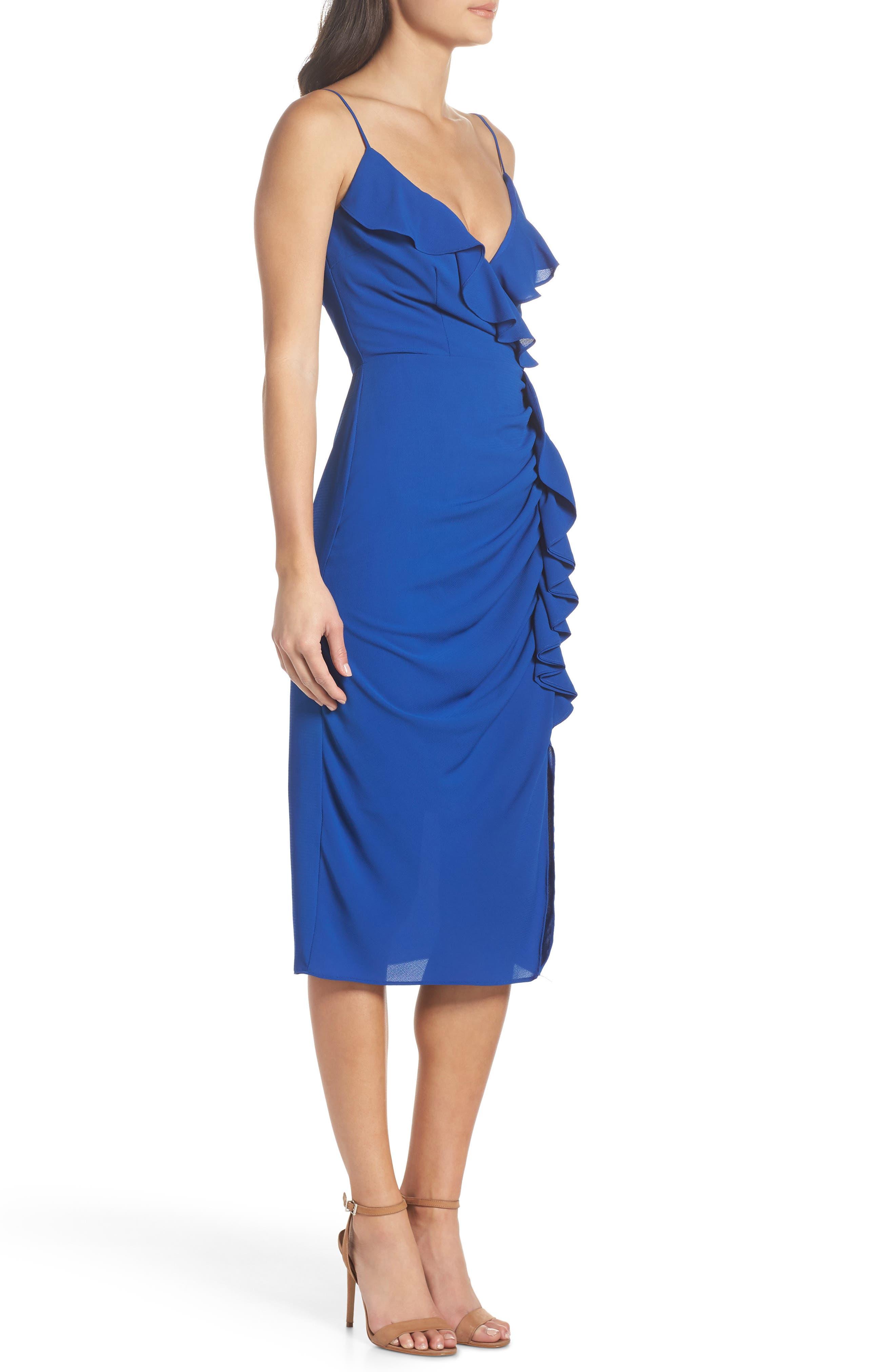 Camilla Frill Sheath Dress,                             Alternate thumbnail 3, color,                             460