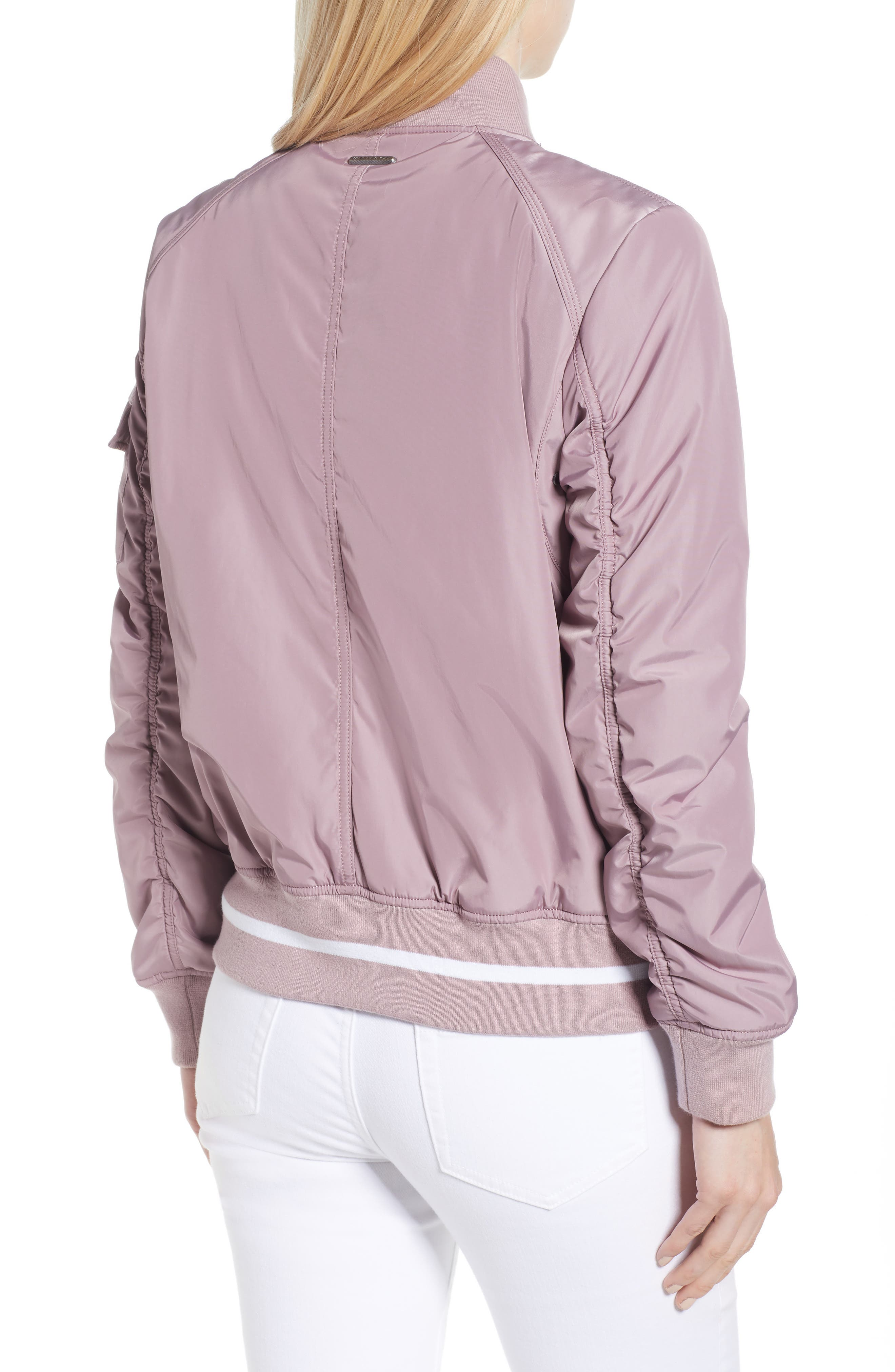 Foster Nylon Twill Bomber Jacket,                             Alternate thumbnail 5, color,