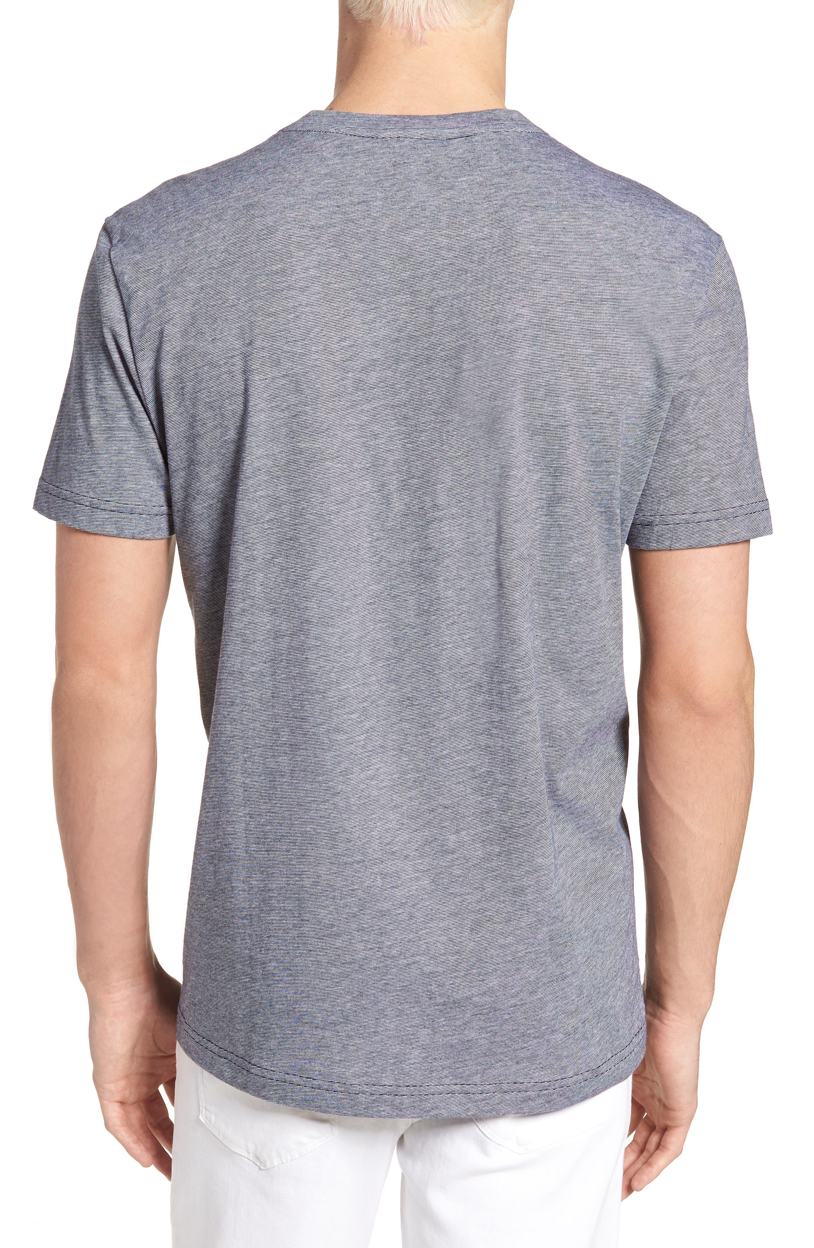 V-Neck Cotton T-Shirt,                             Alternate thumbnail 6, color,