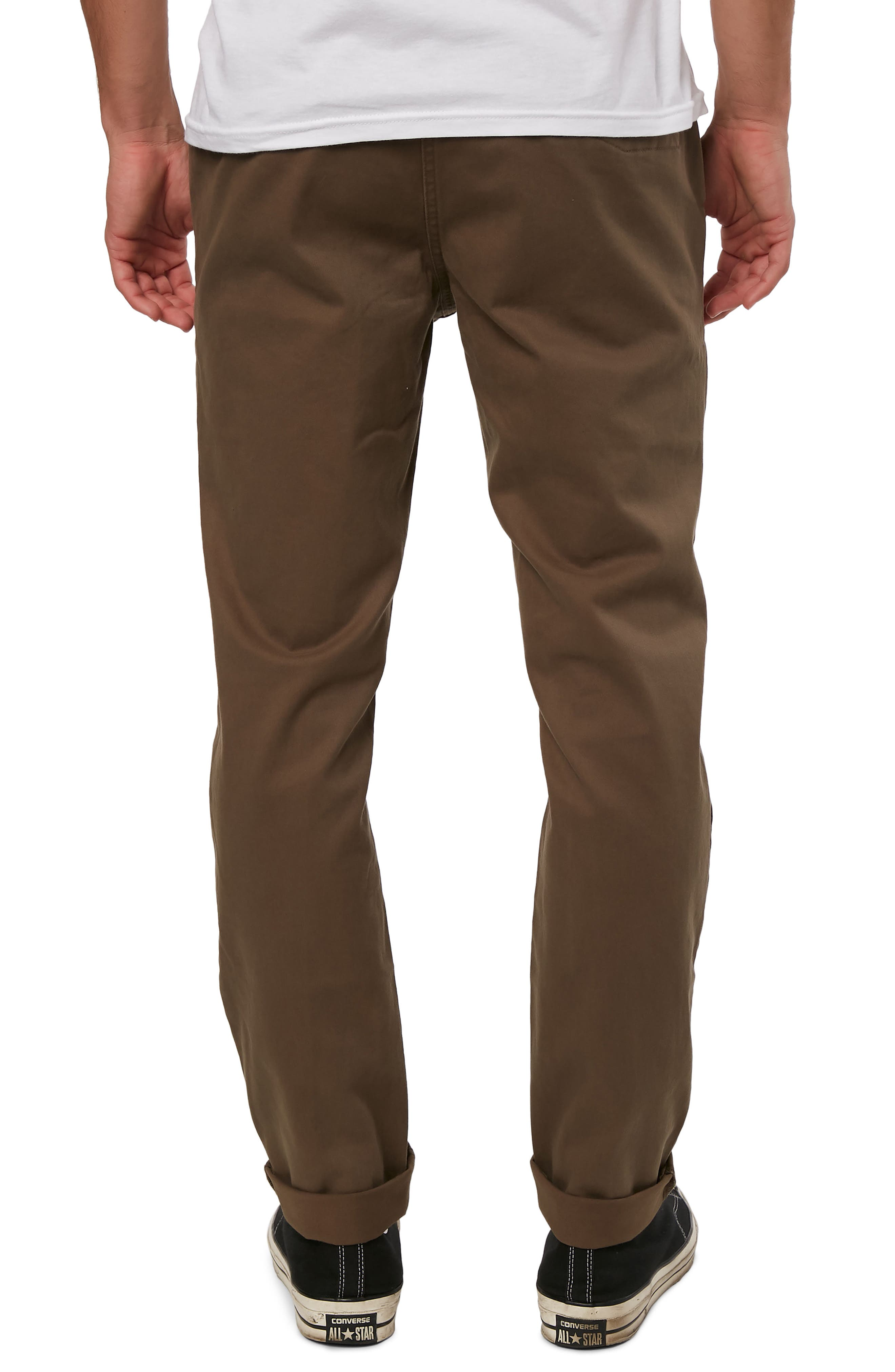 Mission Stretch Chino Pants,                             Alternate thumbnail 2, color,                             MILITARY GREEN