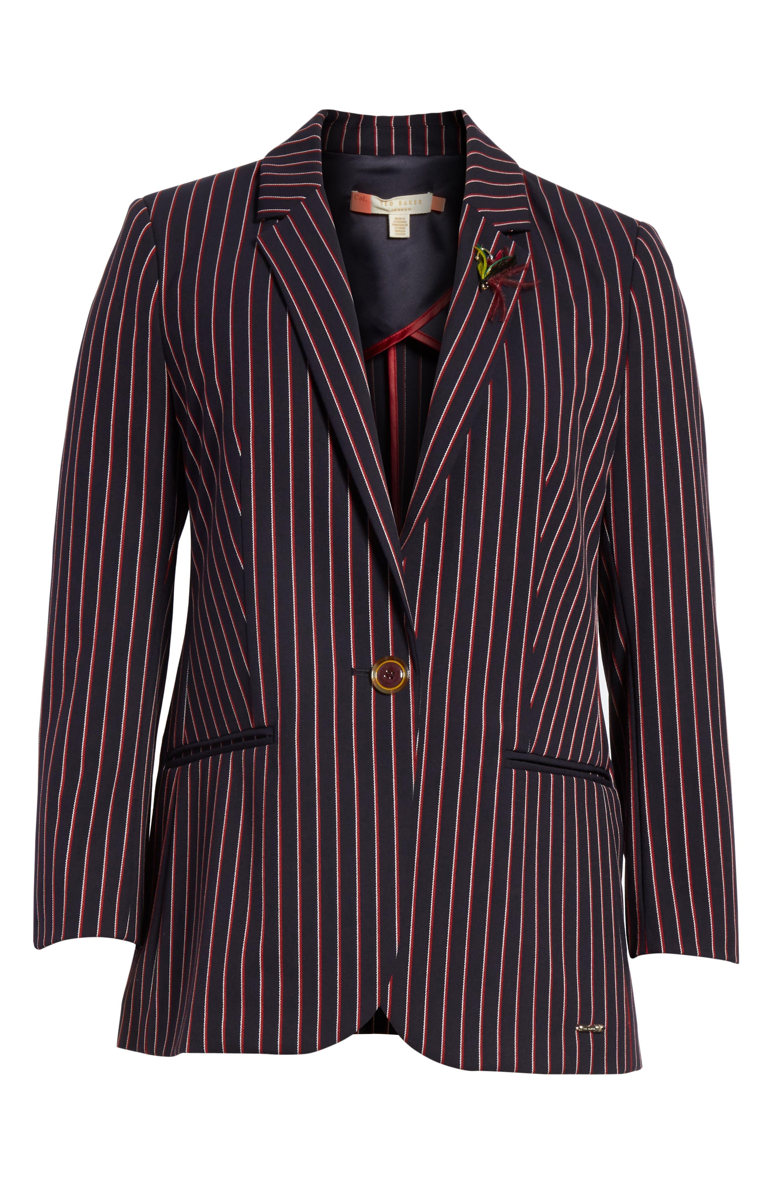 Pinstripe Suit Jacket,                             Alternate thumbnail 5, color,                             410