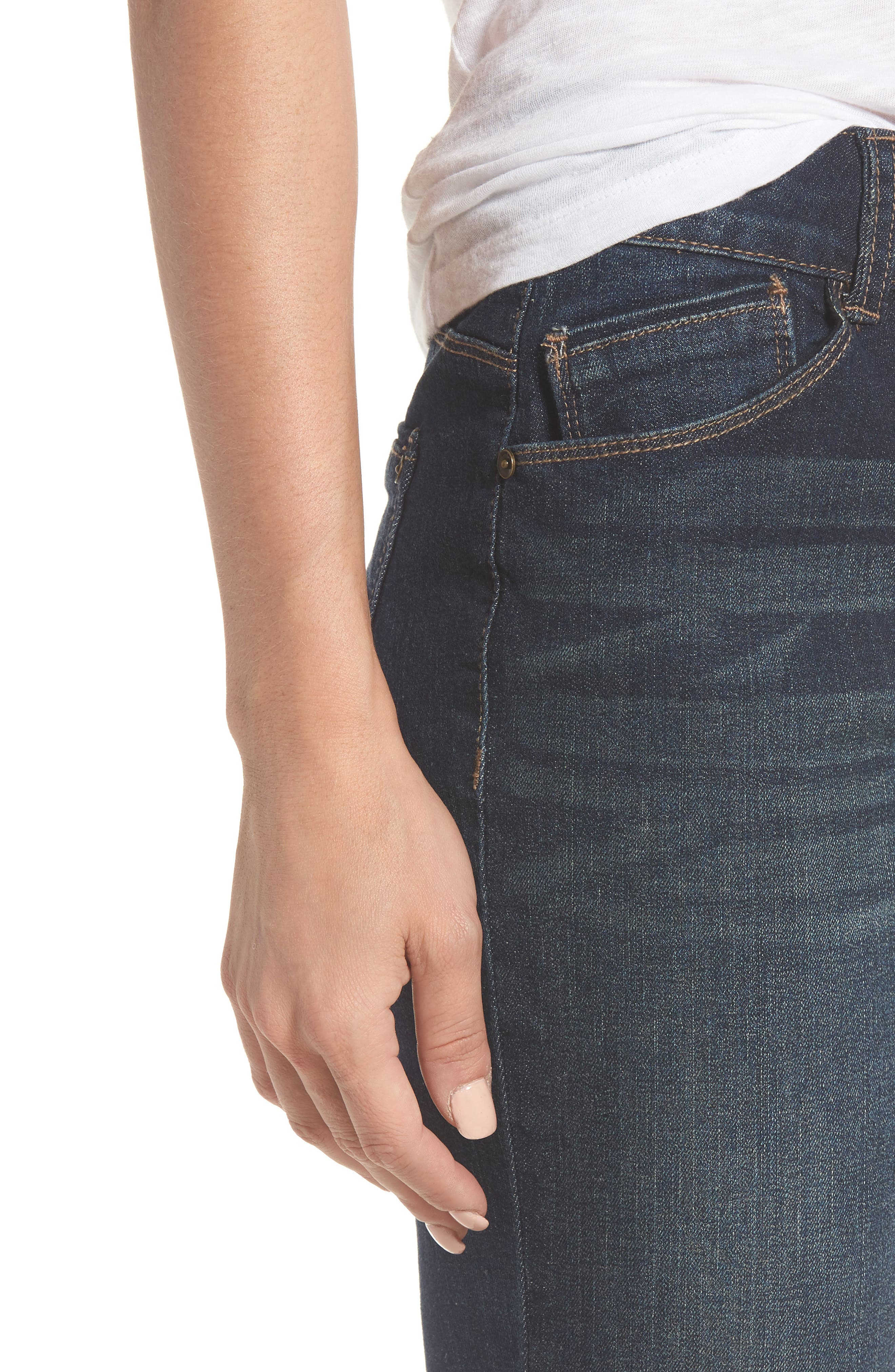 Two-Button High Waist Skinny Jeans,                             Alternate thumbnail 7, color,