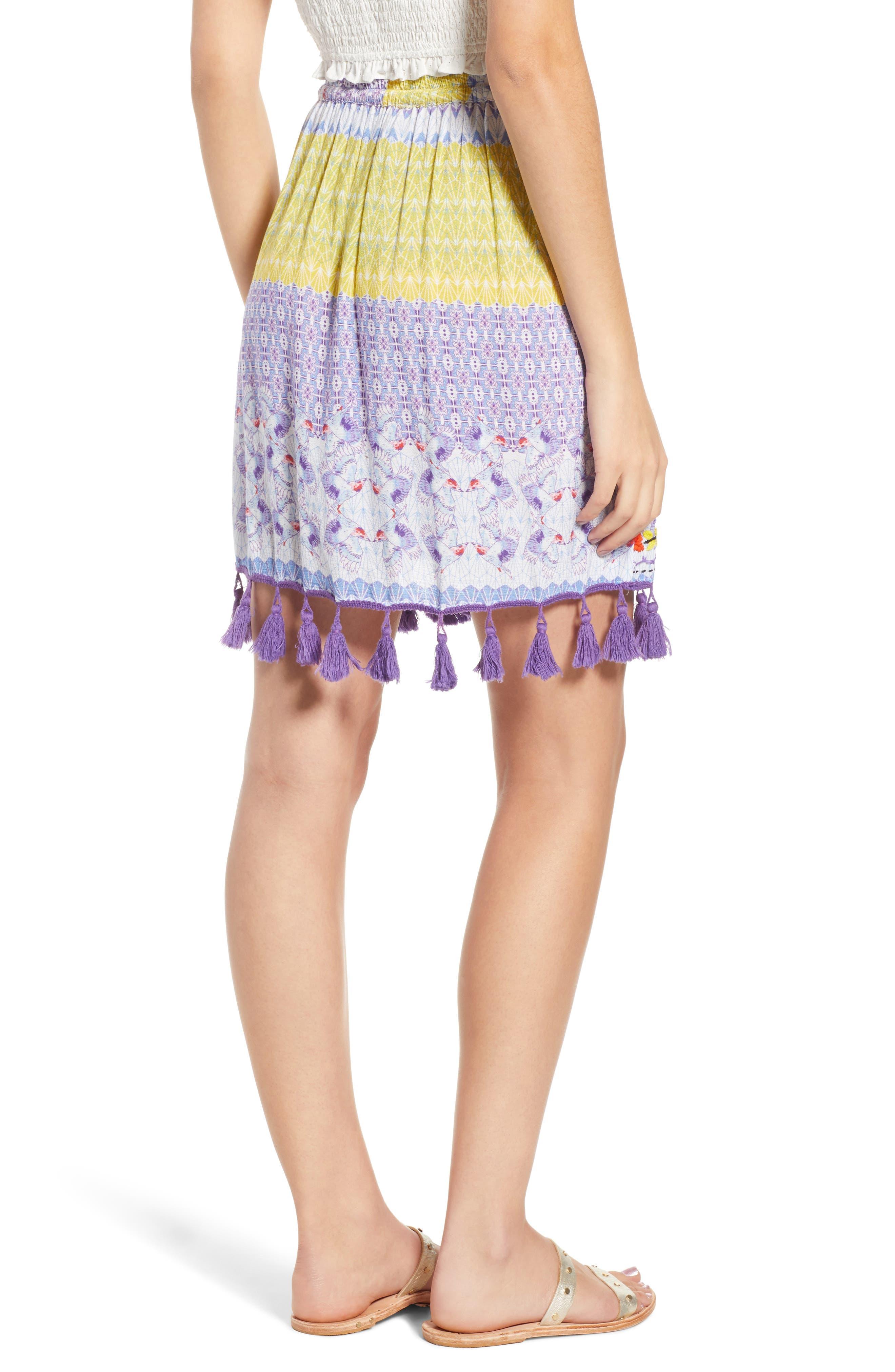 Tropic Bird Tassel Trim Skirt,                             Alternate thumbnail 2, color,                             500