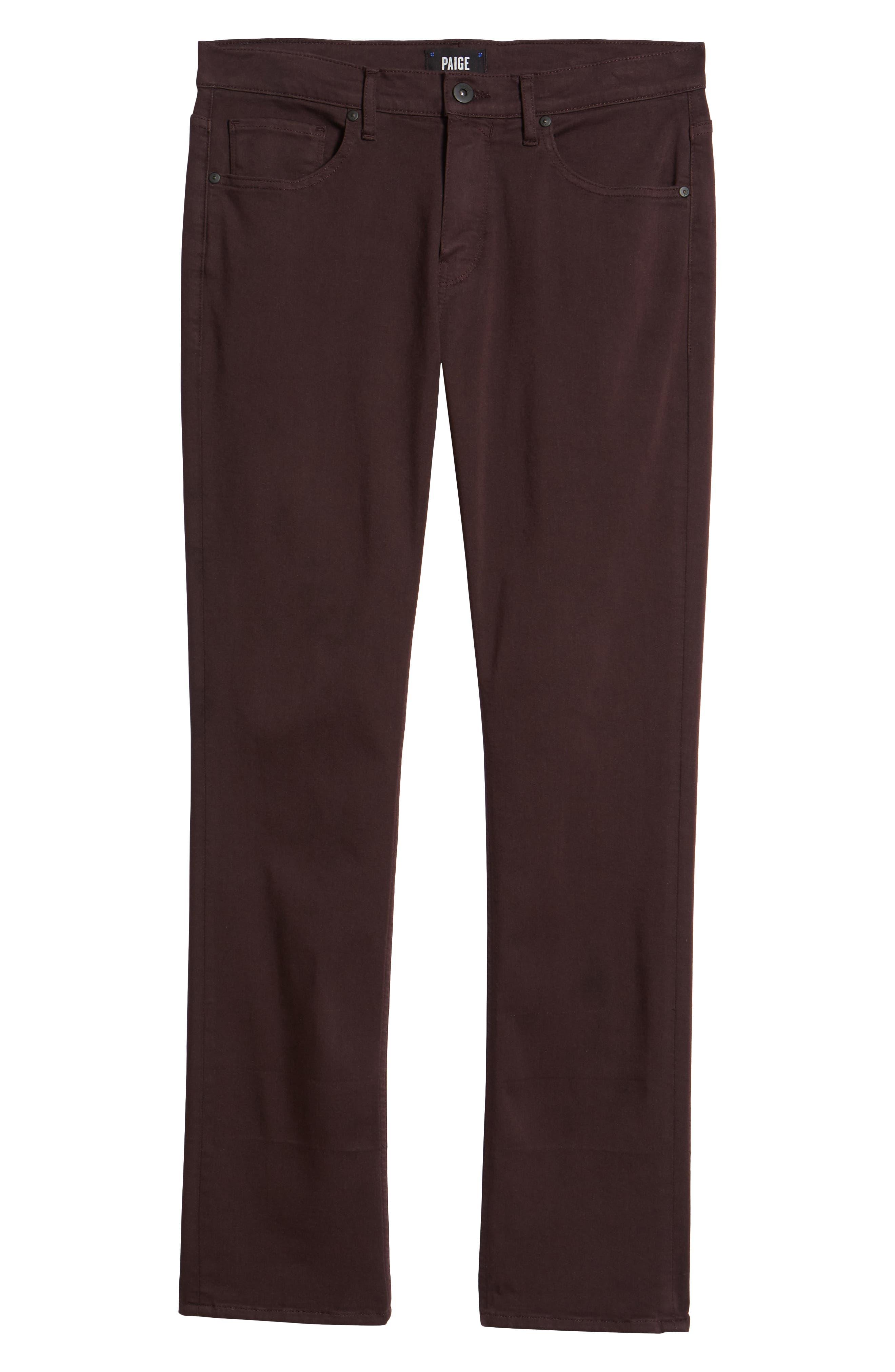 Transcend - Federal Slim Straight Fit Jeans,                             Alternate thumbnail 6, color,                             DARK PORT