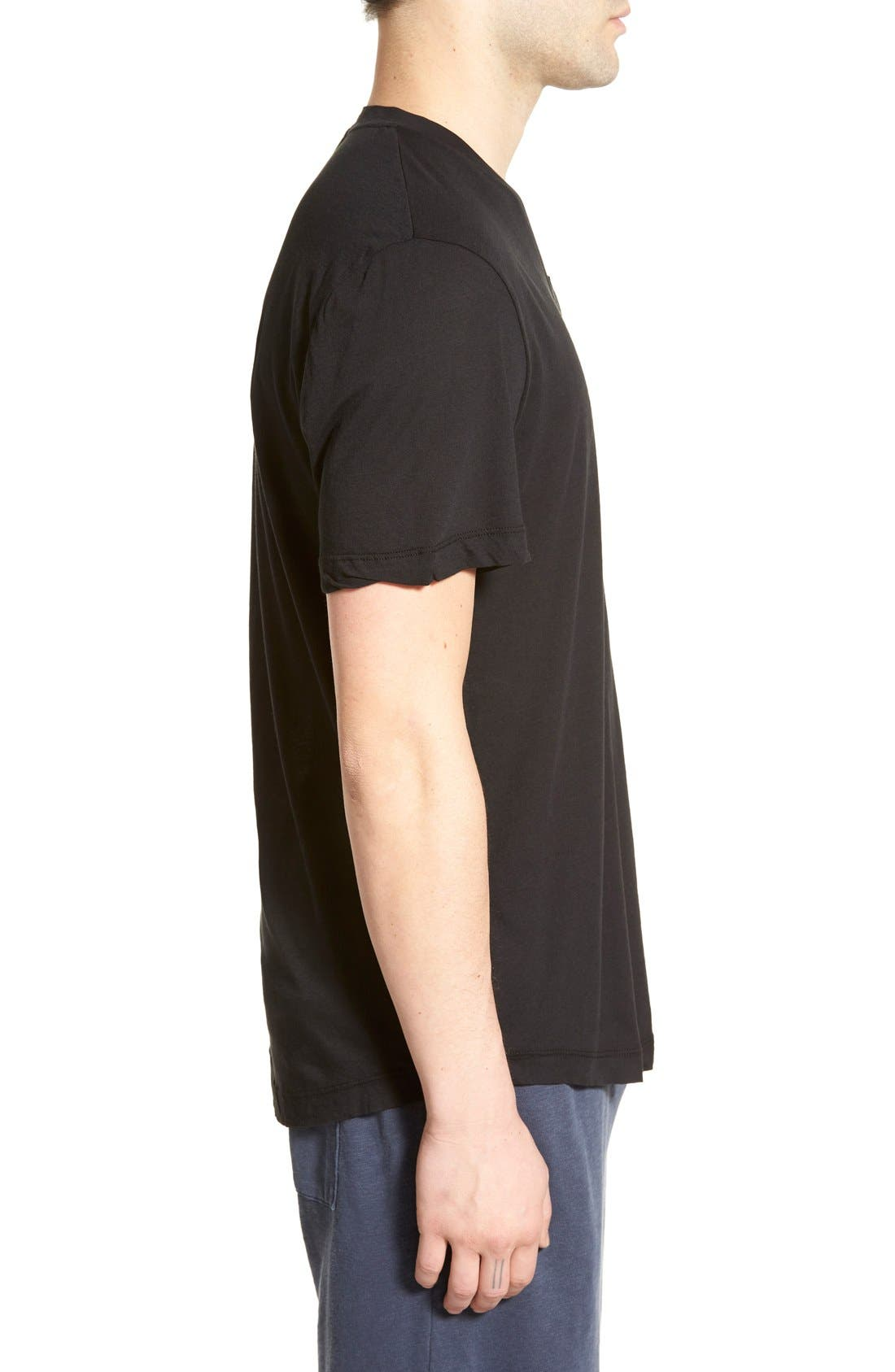 'Clear Jersey' Mélange V-Neck T-Shirt,                             Alternate thumbnail 31, color,