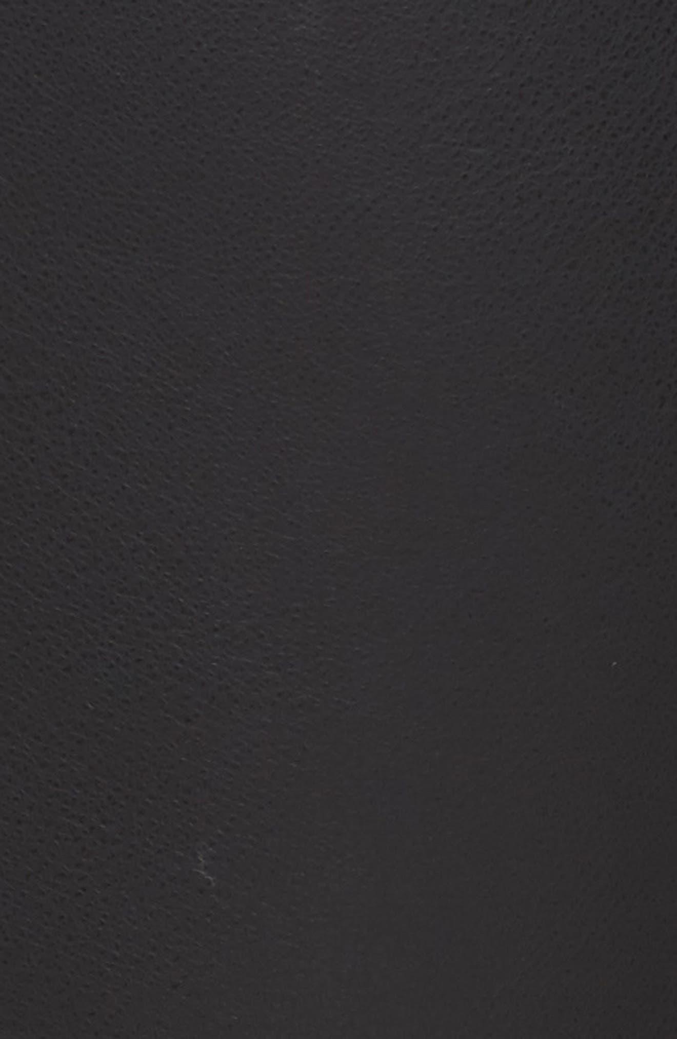Frill Trim Faux Leather Pants,                             Alternate thumbnail 5, color,