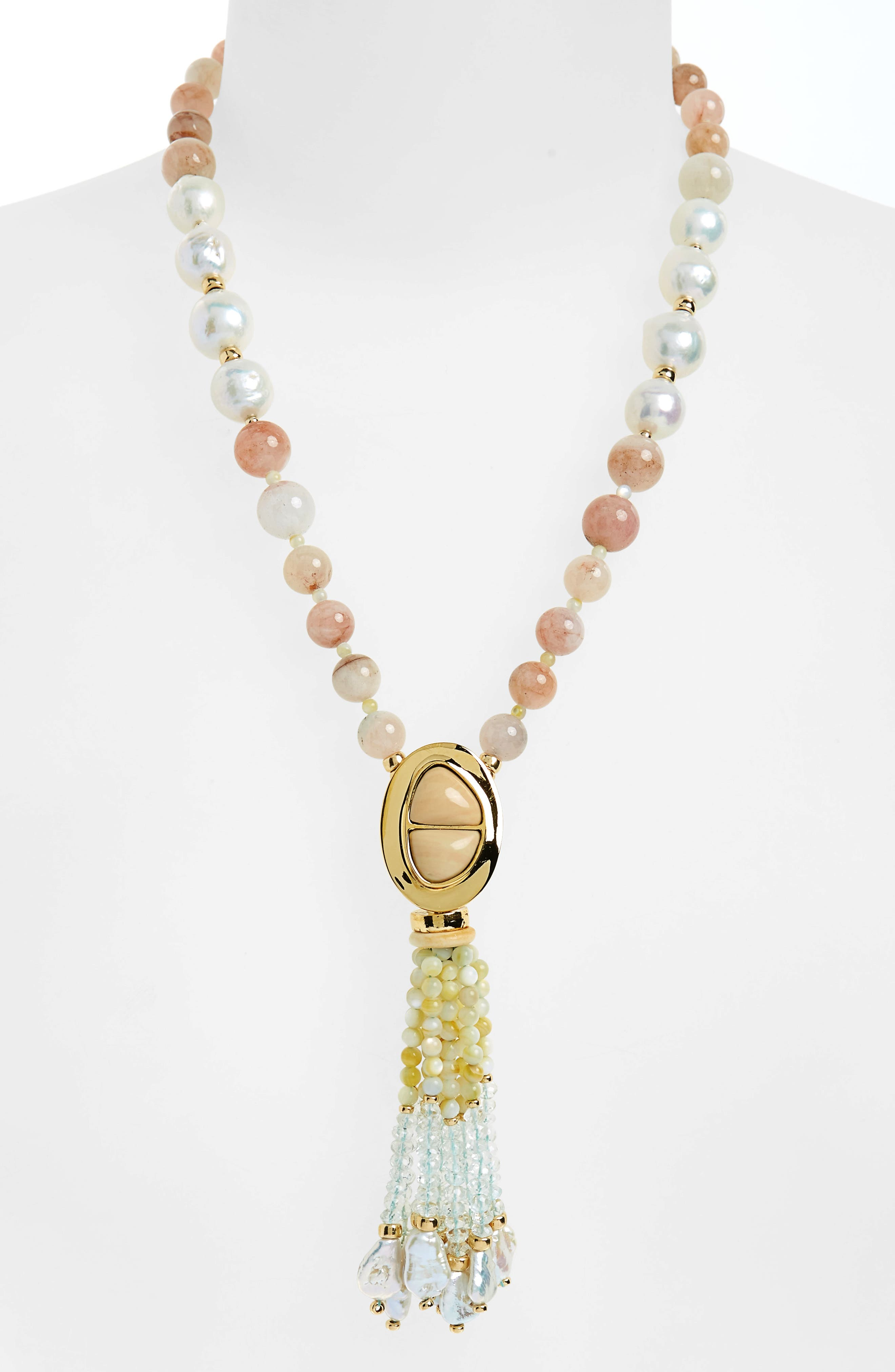 High Falls Freshwater Pearl Tassel Necklace,                             Alternate thumbnail 2, color,                             716