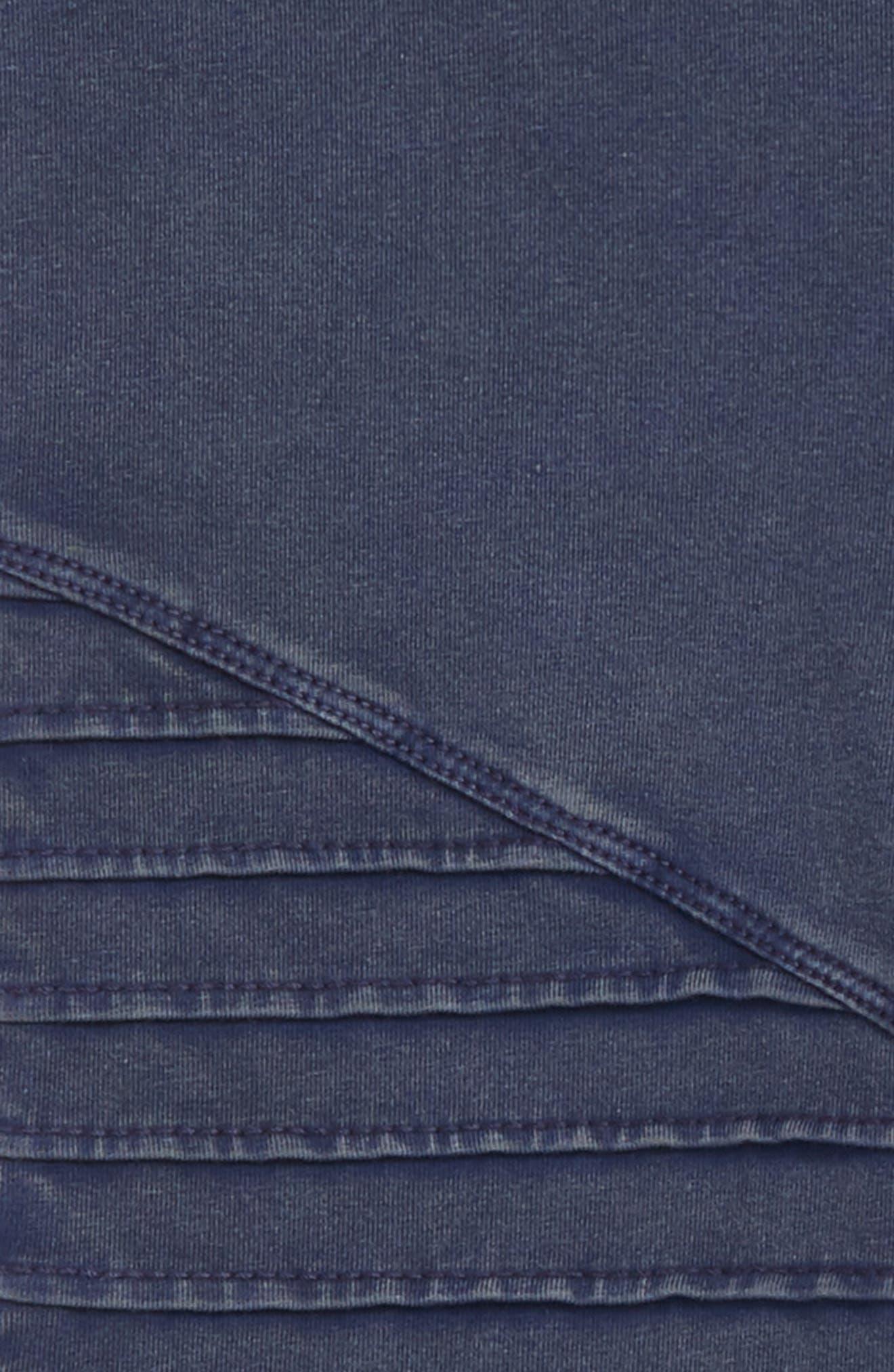High Waist Moto Pants,                             Alternate thumbnail 2, color,                             NAVY PEACOAT WASH