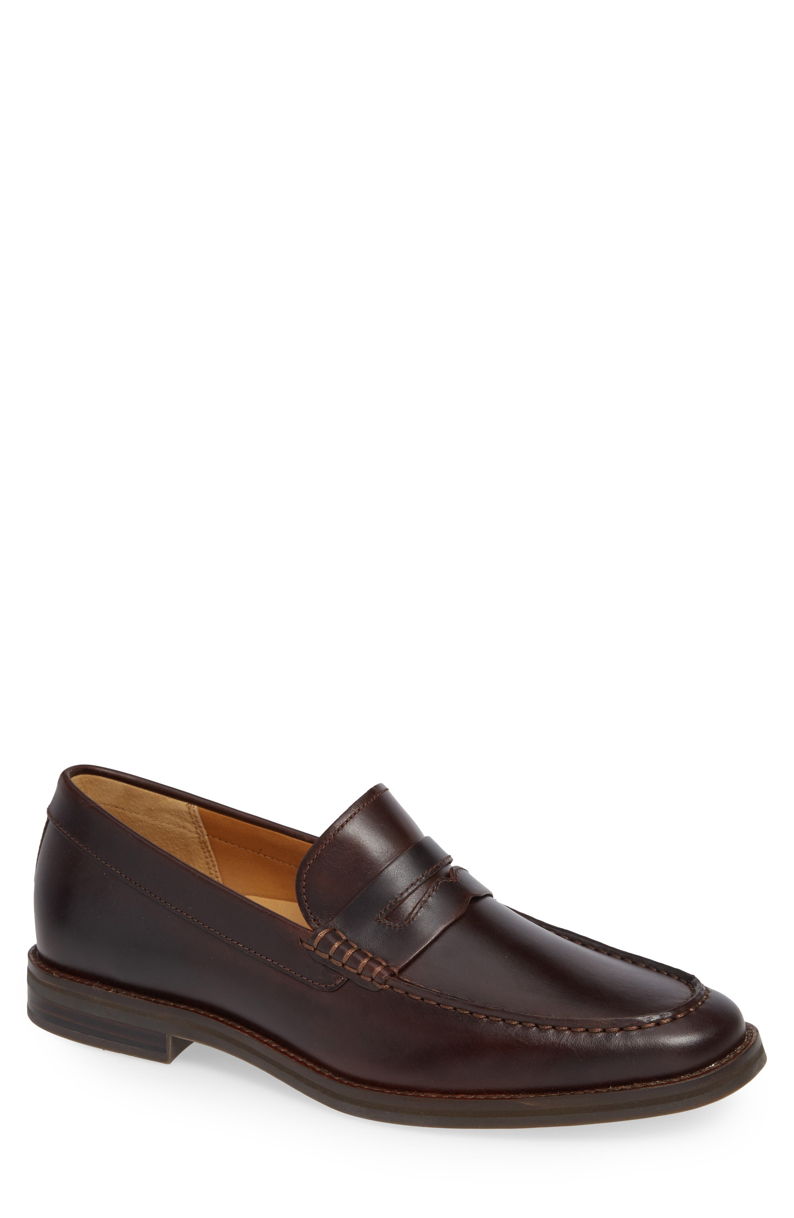 Gold Cup Exeter Penny Loafer,                             Main thumbnail 1, color,                             AMARETTO
