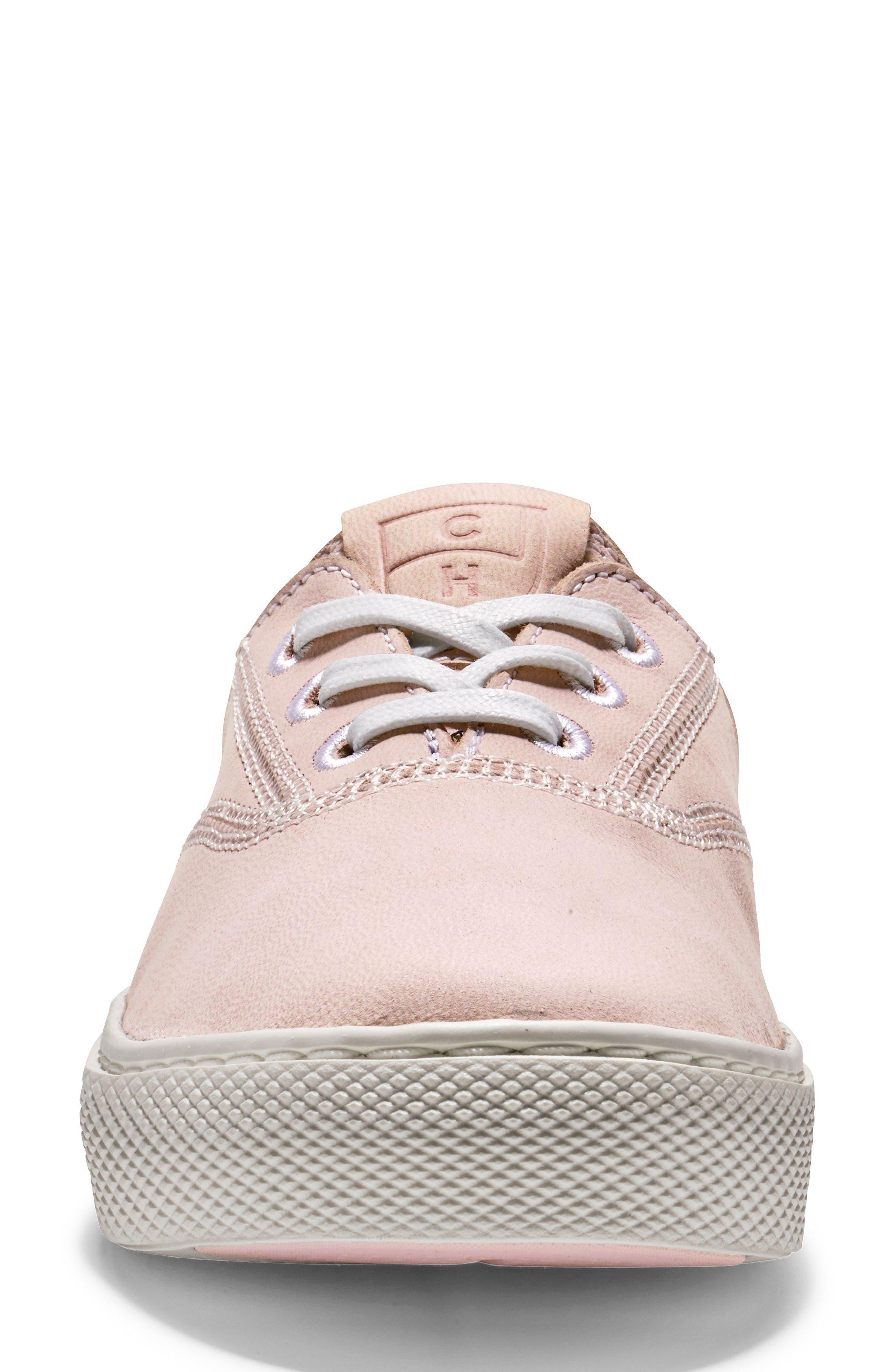 GrandPro Deck Sneaker,                             Alternate thumbnail 4, color,                             PETAL/ OPTIC WHITE NUBUCK