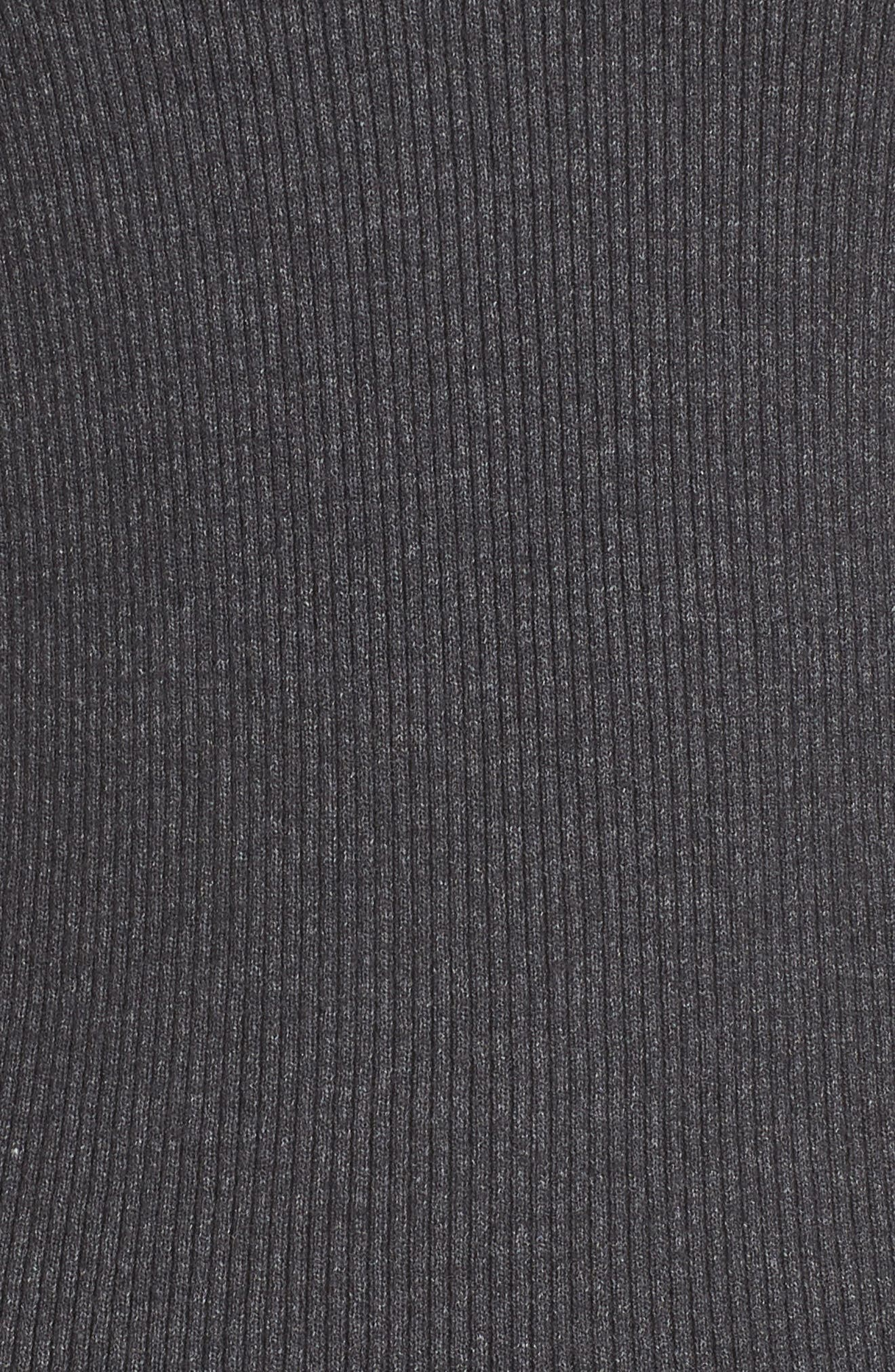 Rib Knit Pullover,                             Alternate thumbnail 5, color,                             GREY MED CHARCOAL HEATHER