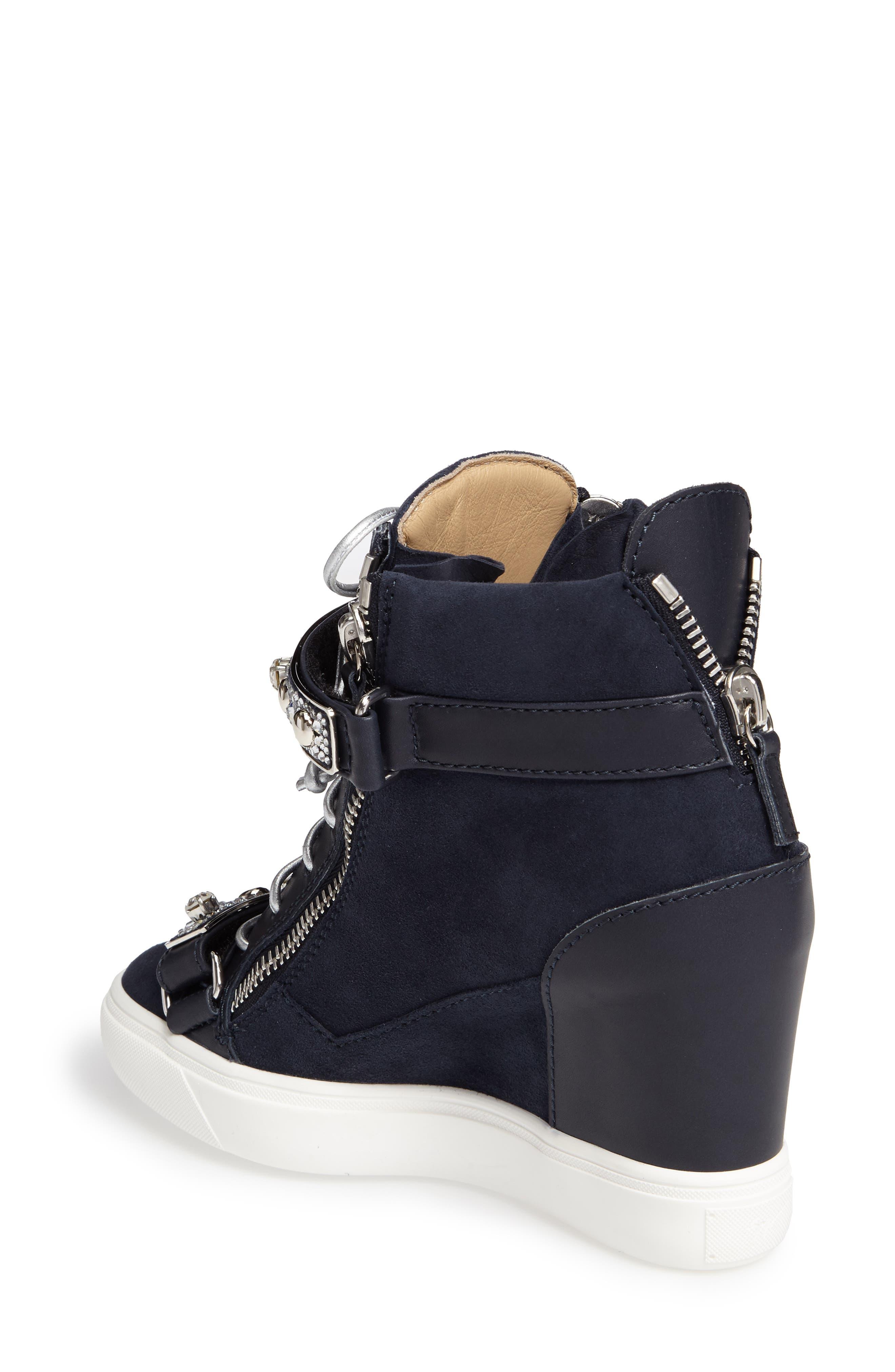 Giuseppe for Jennifer Lopez Tiana Hidden Wedge Sneaker,                             Alternate thumbnail 4, color,