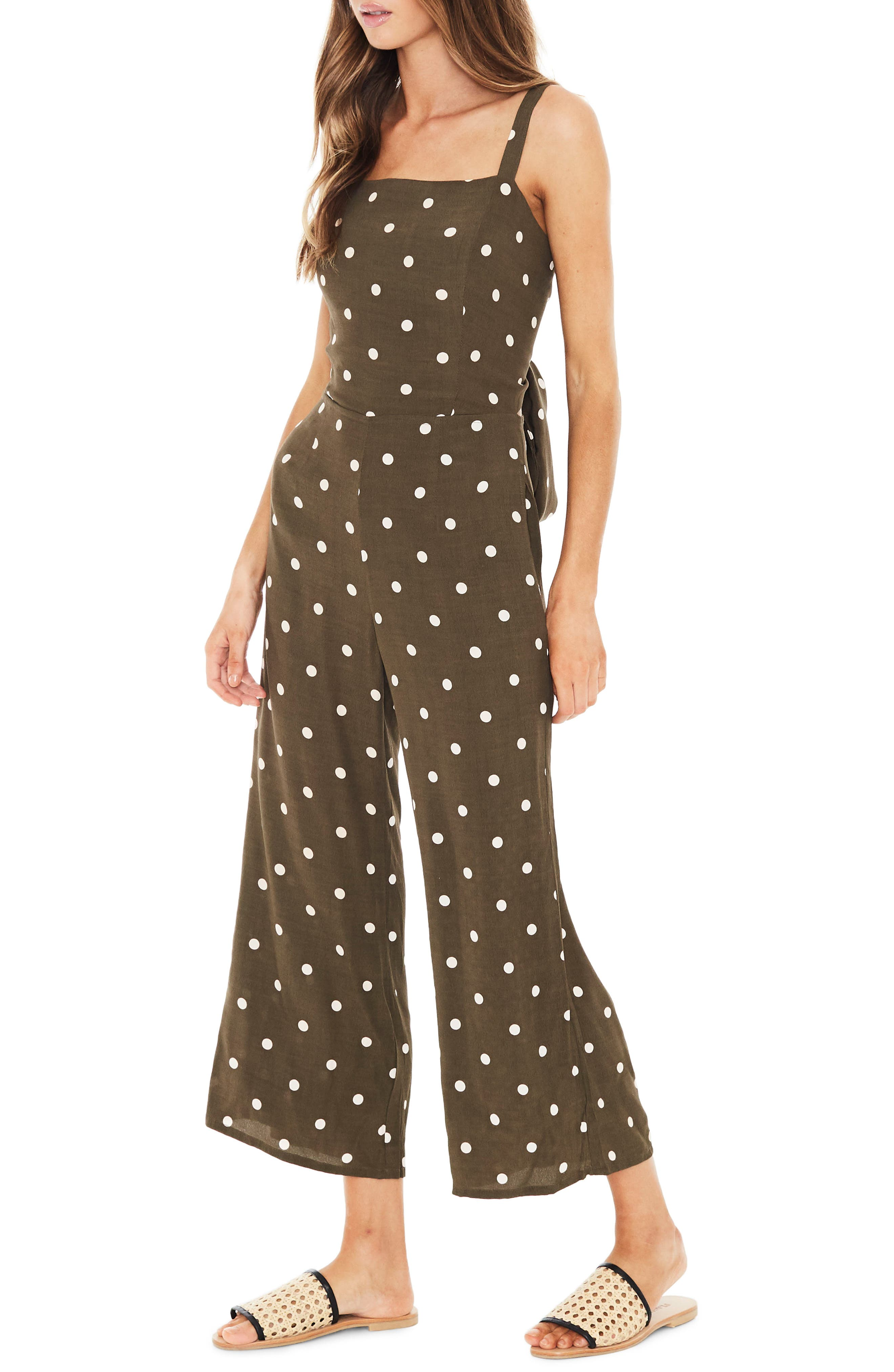 Playa Polka Dot Jumpsuit,                             Alternate thumbnail 3, color,                             200