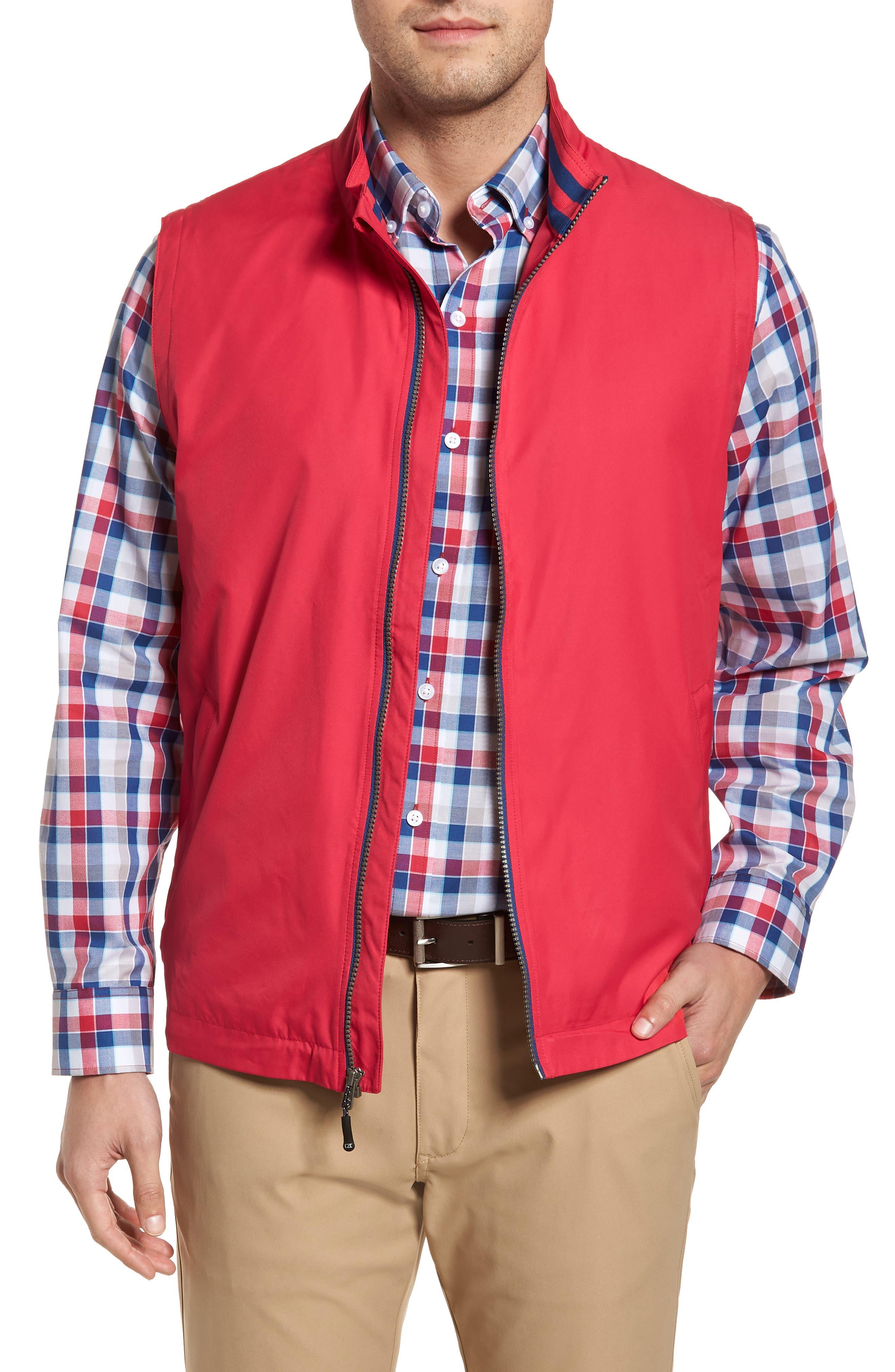 Cutter & Buck Nine Iron Drytec Zip Vest, Pink