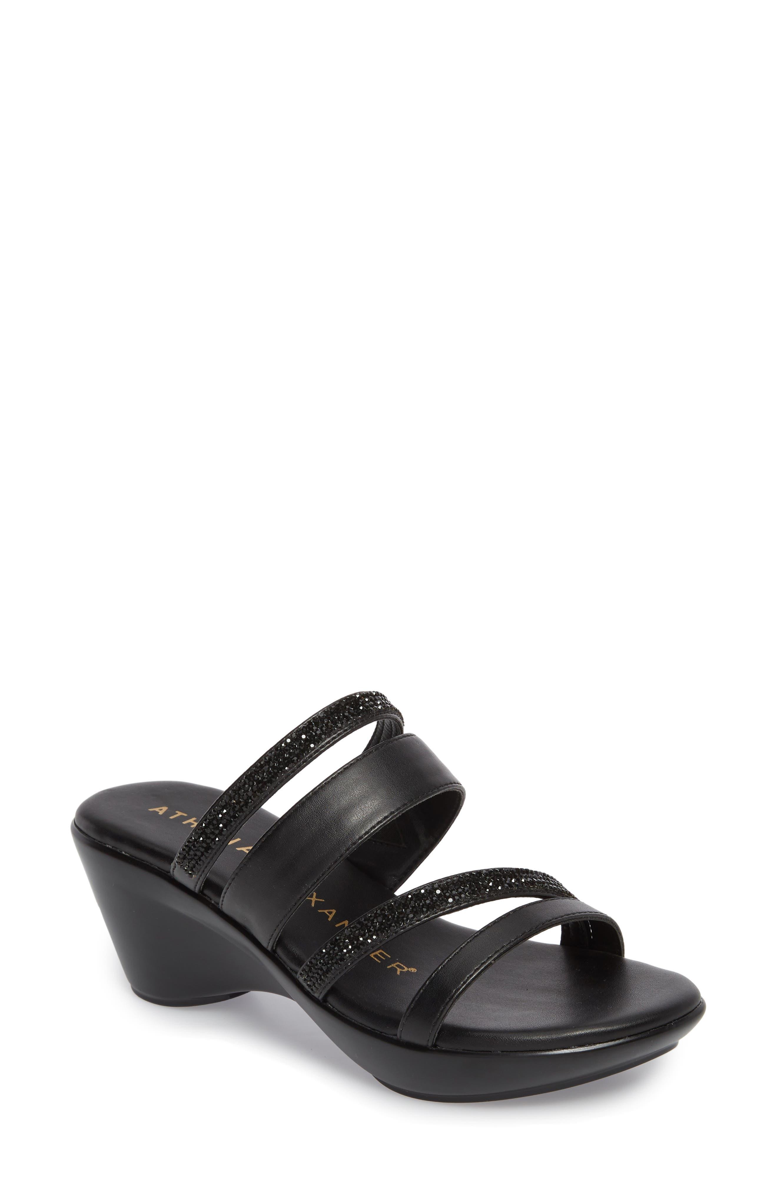 Kozima Embellished Sandal,                             Main thumbnail 1, color,                             BLACK FABRIC