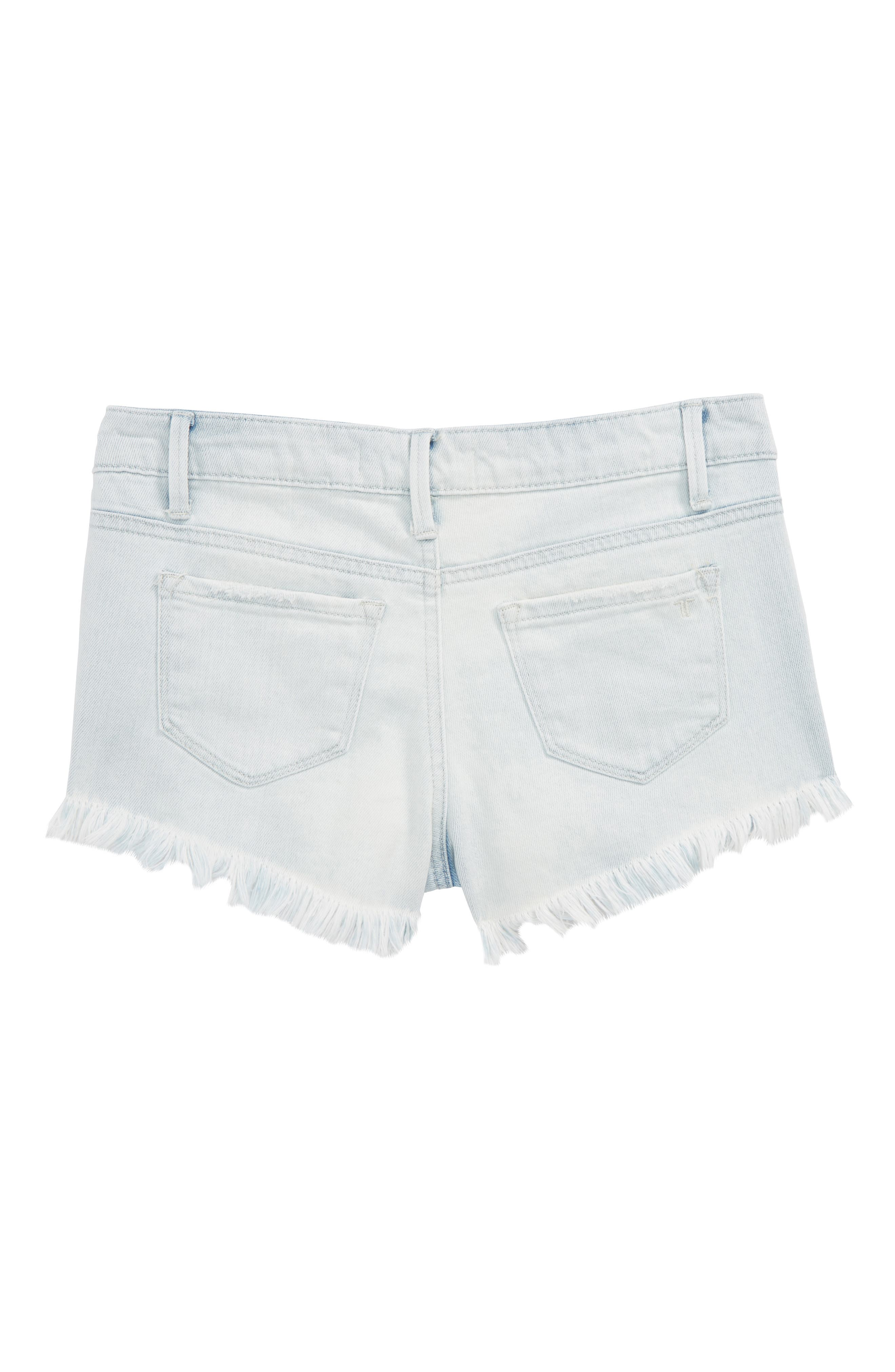 Destructed Frayed Denim Shorts,                             Alternate thumbnail 2, color,                             461
